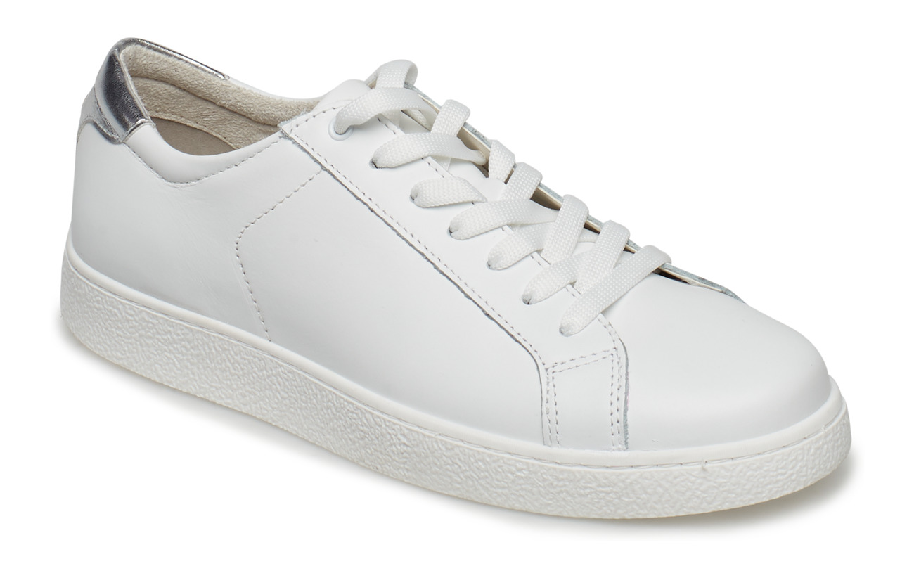 Tamaris Woms Lace-up - WHT/SILVER MET