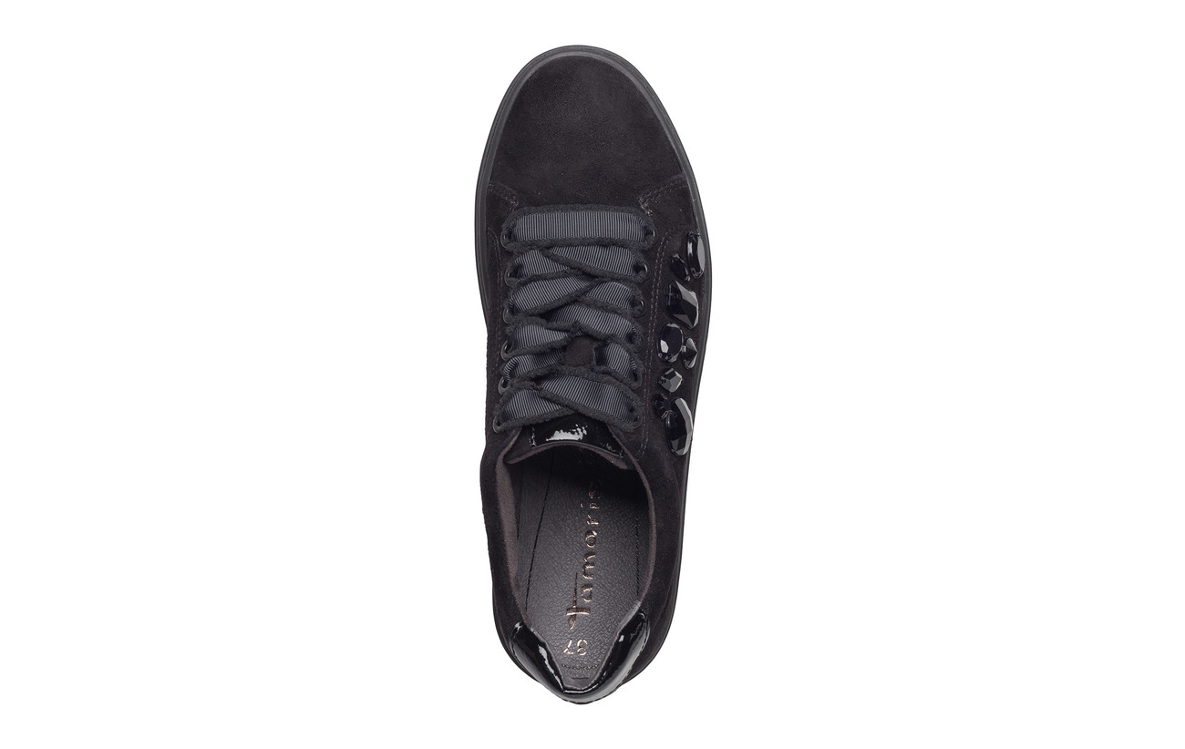 Semelle Lace Graphite Tamaris Extérieure black Woms Empeigne up Cuir Synthetic BwCqR0gx