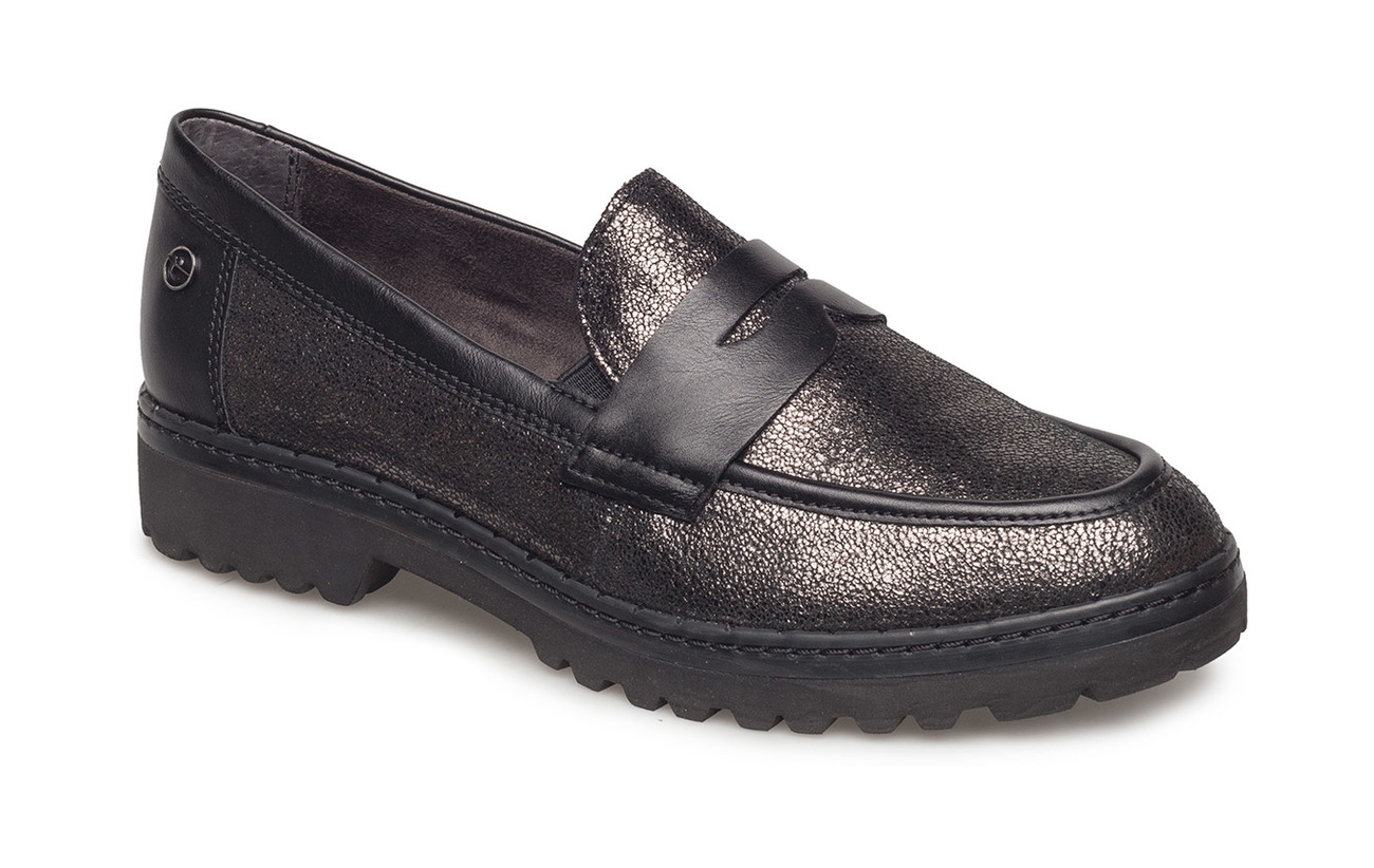 Tamaris Woms Slip-on - PEWTER/BLACK