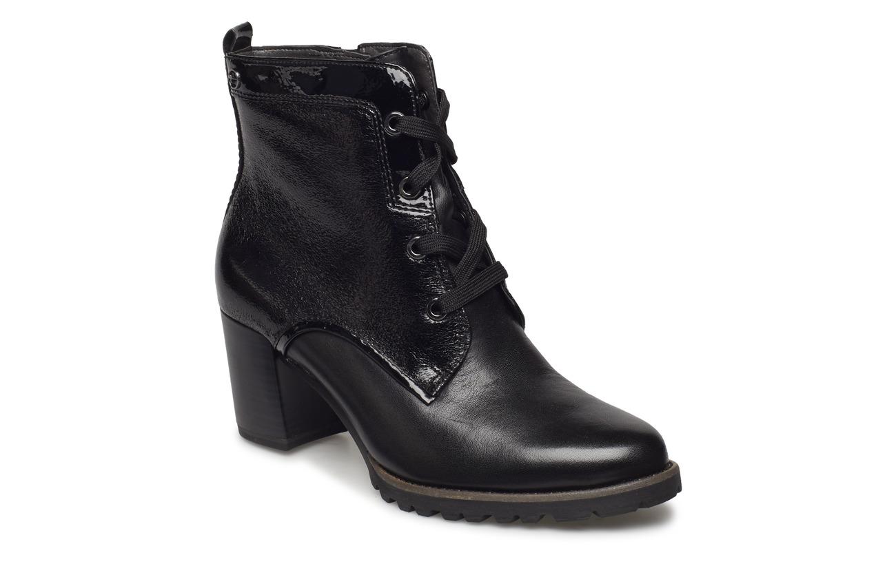 Empeigne Tamaris Synthetic Cuir Black Woms Extérieure Semelle Boots HqxTAqZ