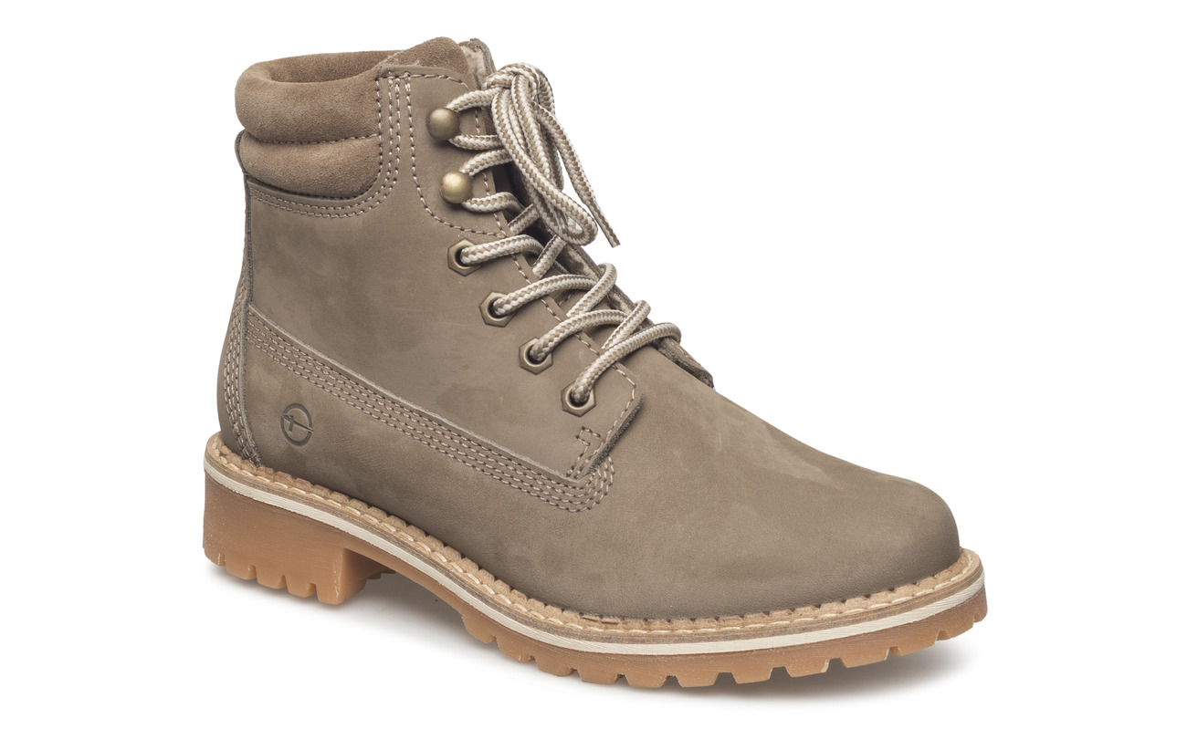 Synthetic Semelle Cuir Boots Extérieure Taupe Woms Tamaris Empeigne Twqxg0wA