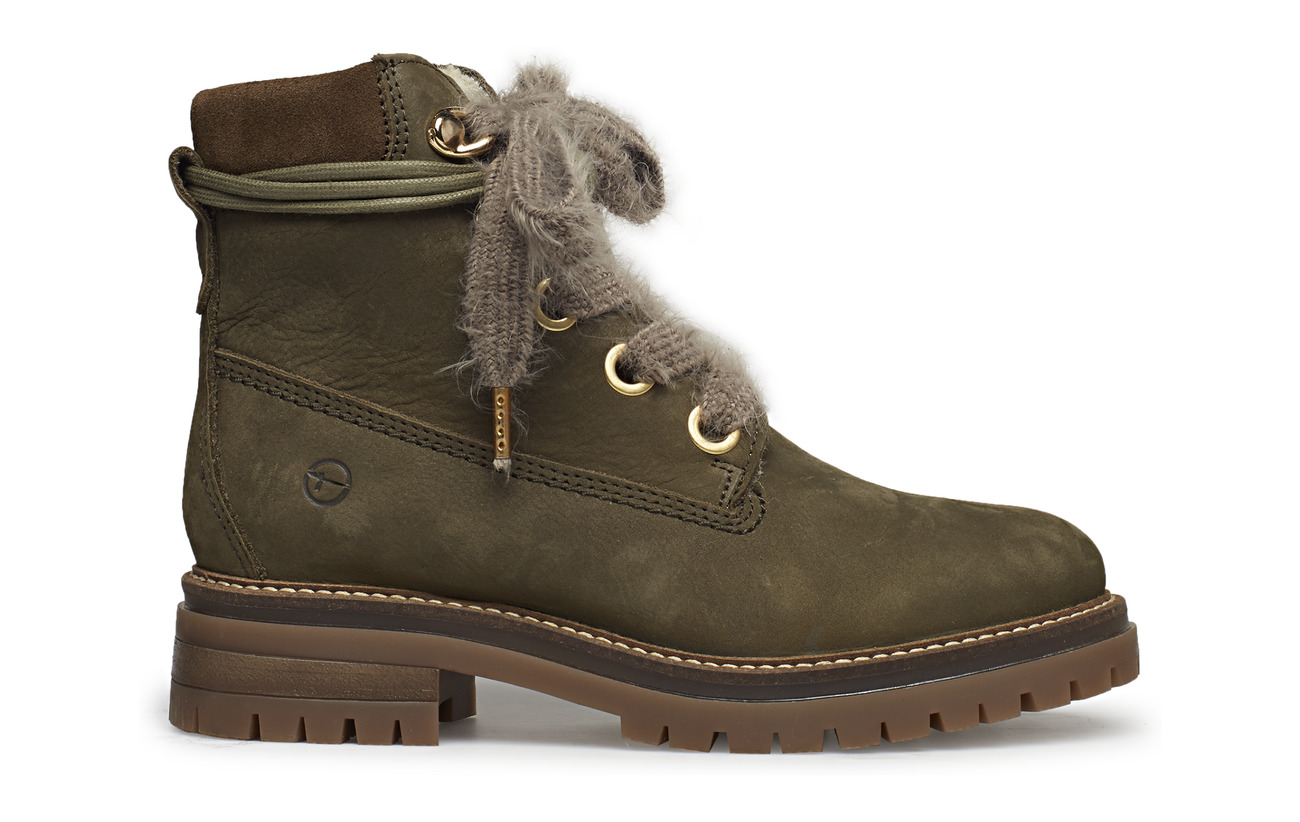 Boots Cuir Semelle Extérieure Empeigne Woms Synthetic Olive Tamaris 5CPFBwqS