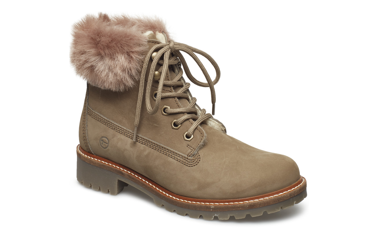 Tamaris Woms Boots - TAUPE FUR