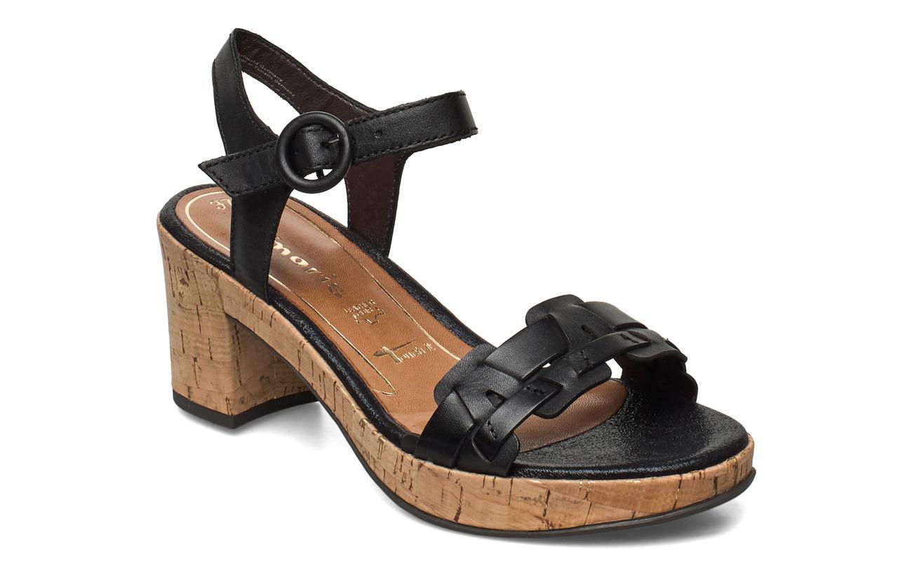 Tamaris Woms Sandals - BLACK LEATHER