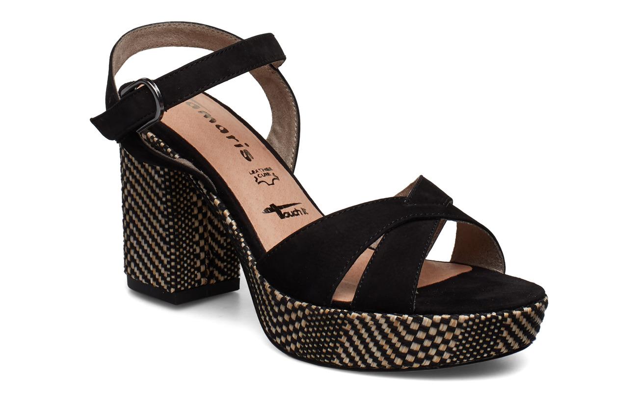 Tamaris Woms Sandals - BLK.NUBUC COMB
