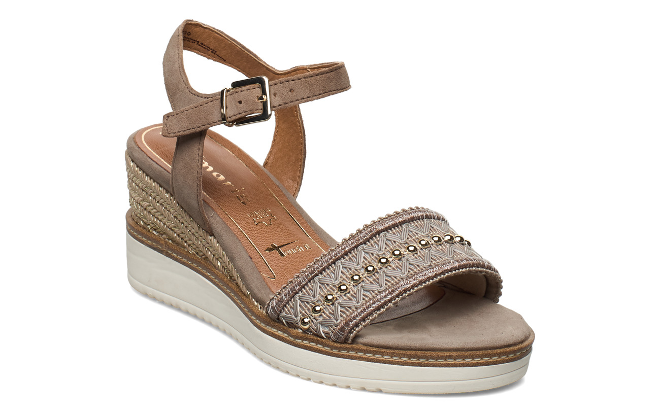 Tamaris Woms Sandals - MUD SUEDE
