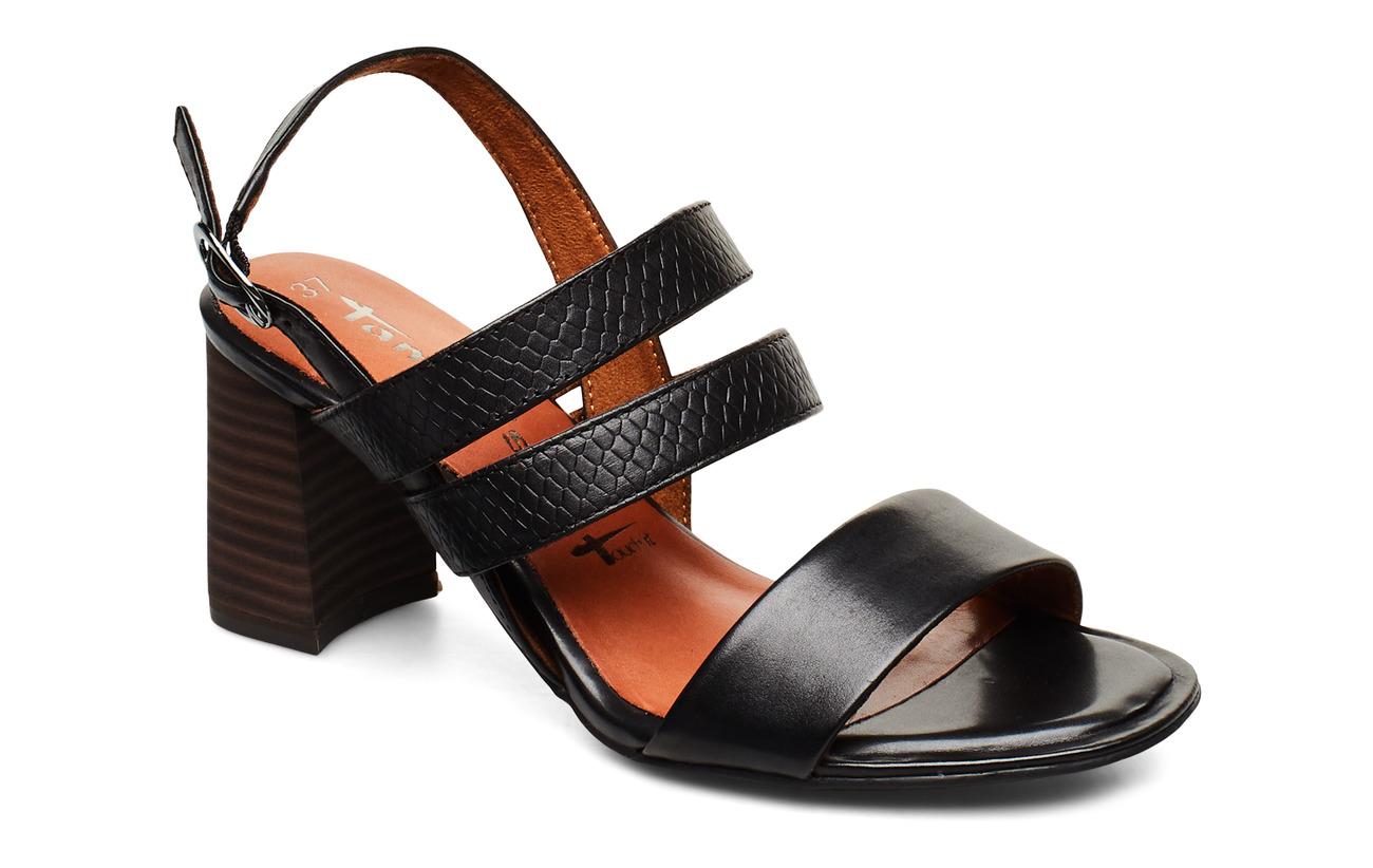 Tamaris Woms Sandals - BLK LEA/SNAKE