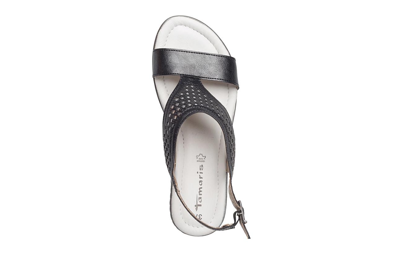 Semelle Synthetic silv Empeigne Woms Met Tamaris Blk Sandals Extérieure nqwYv0