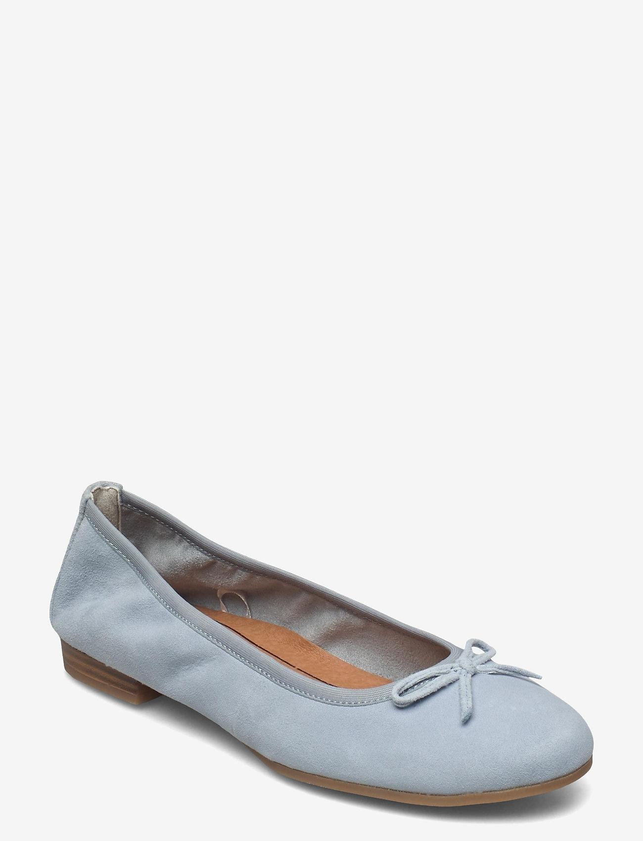 Tamaris - Woms Ballerina - ballerinas - lt. blue suede - 0