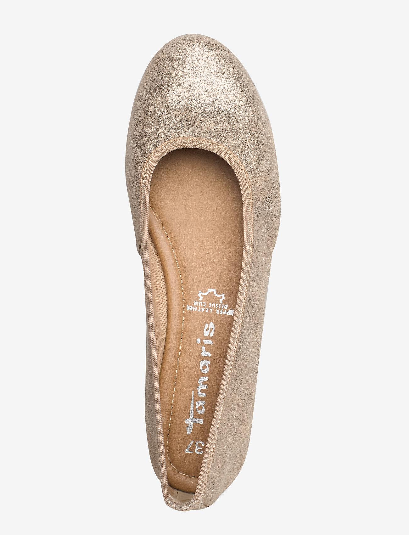 Tamaris Woms Ballerina - Ballerinas Champagne Met.