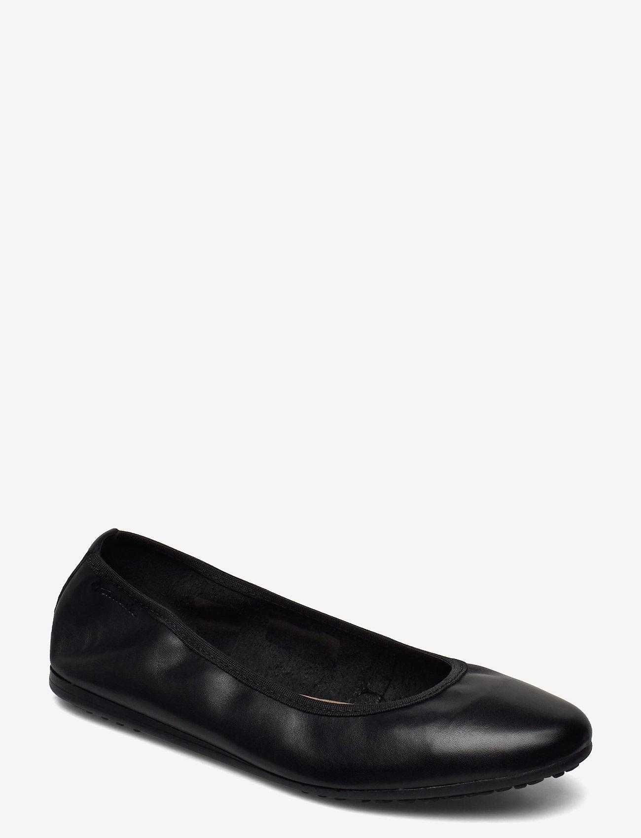 Tamaris - Woms Ballerina - ballerinas - black leather - 0
