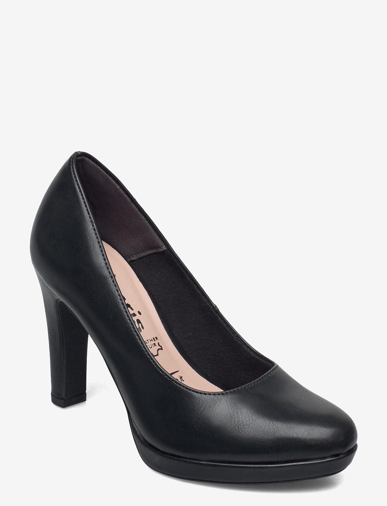 Tamaris - Woms Court Shoe - klasiski augstpapēžu apavi - black matt - 0