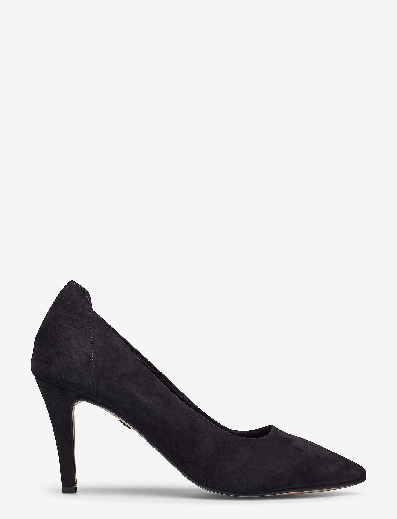 Woms Court Shoe (Black Suede) (599 kr) - Tamaris