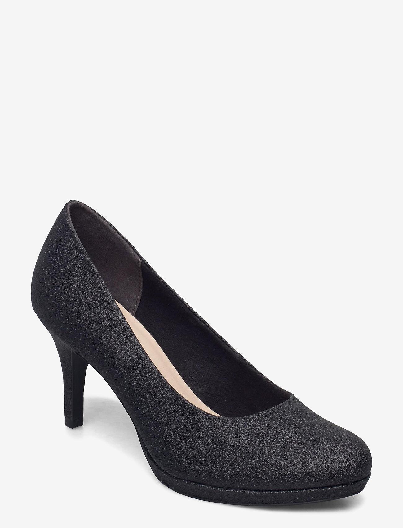 Tamaris - Woms Court Shoe - klassieke pumps - black glam - 0