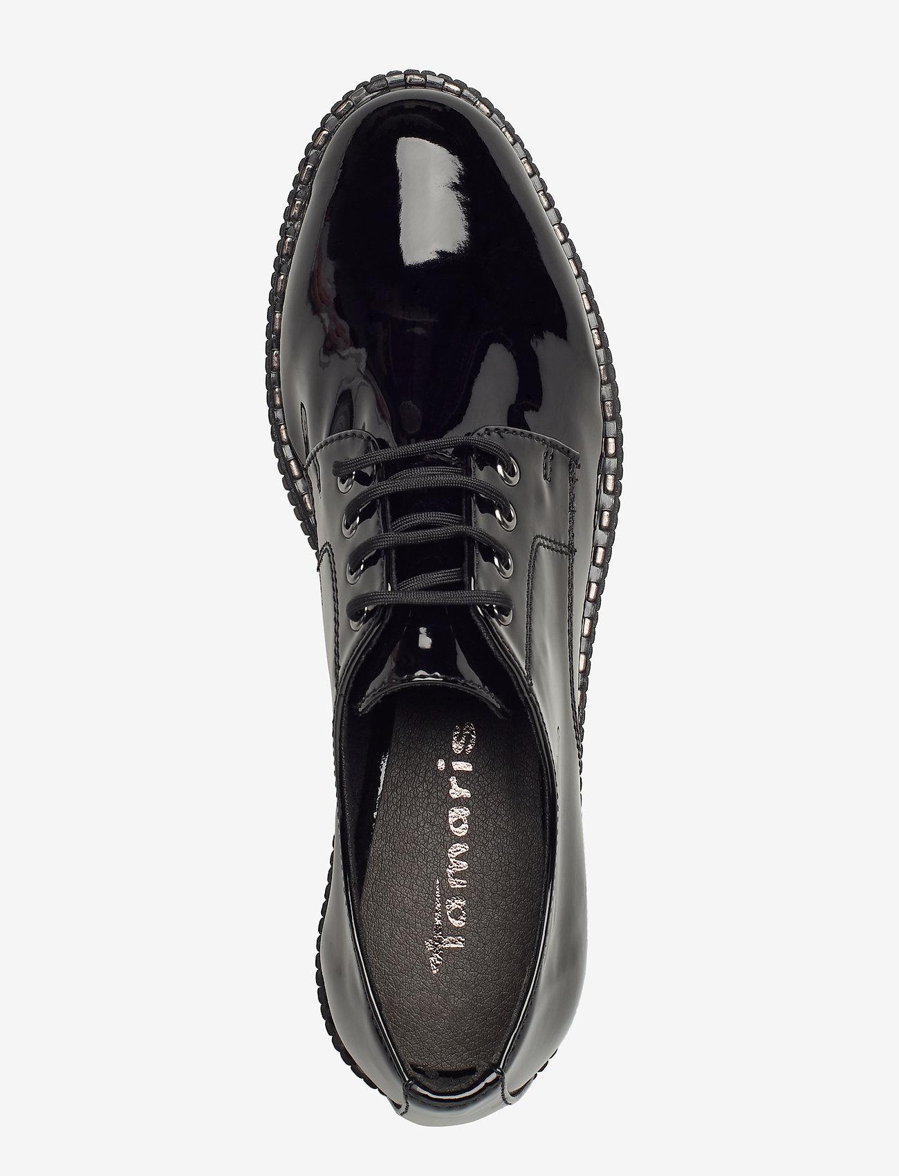 Woms Lace-up (Black Patent) (499 kr) - Tamaris