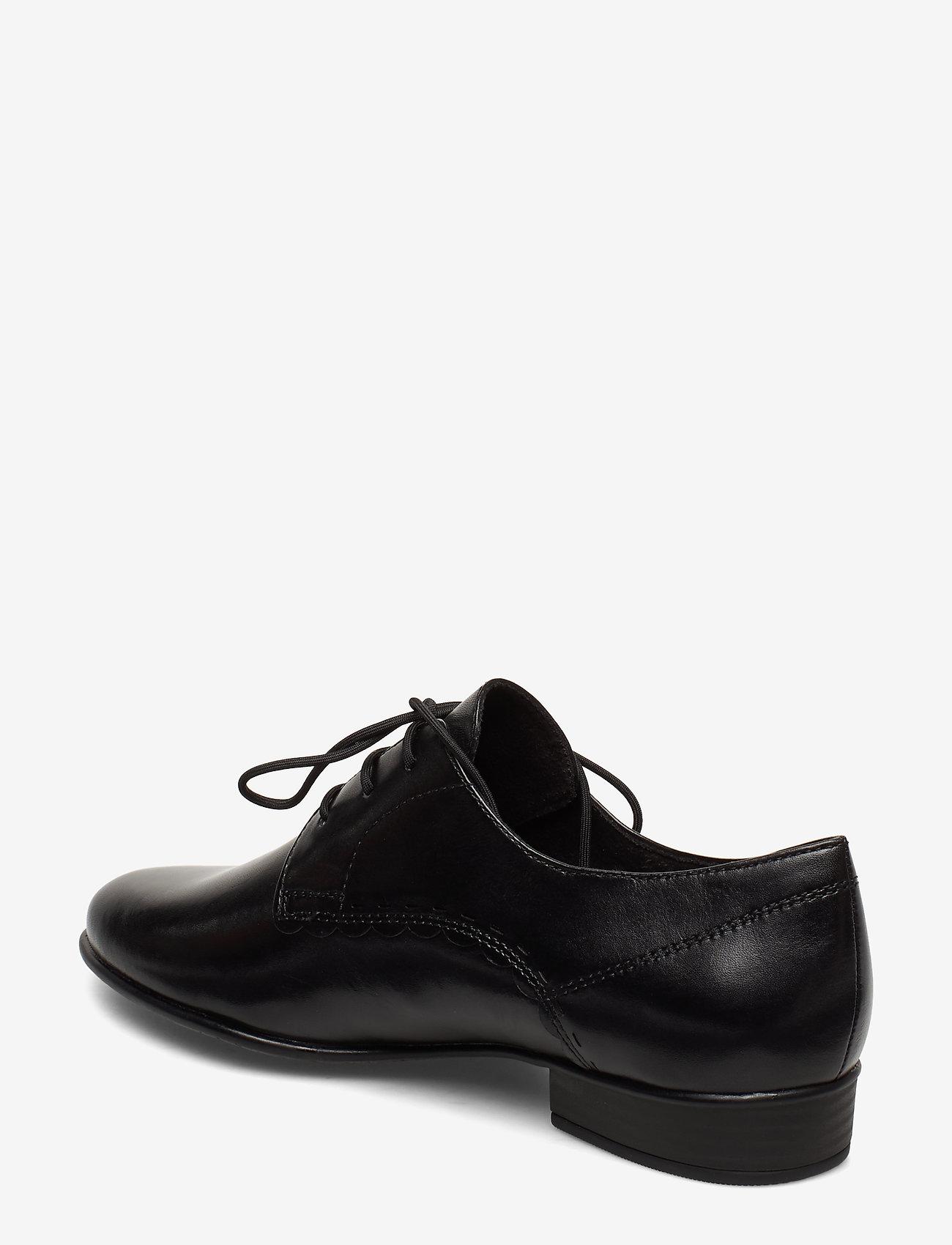 Woms Lace-up (Black Leather) (419.40 kr) - Tamaris