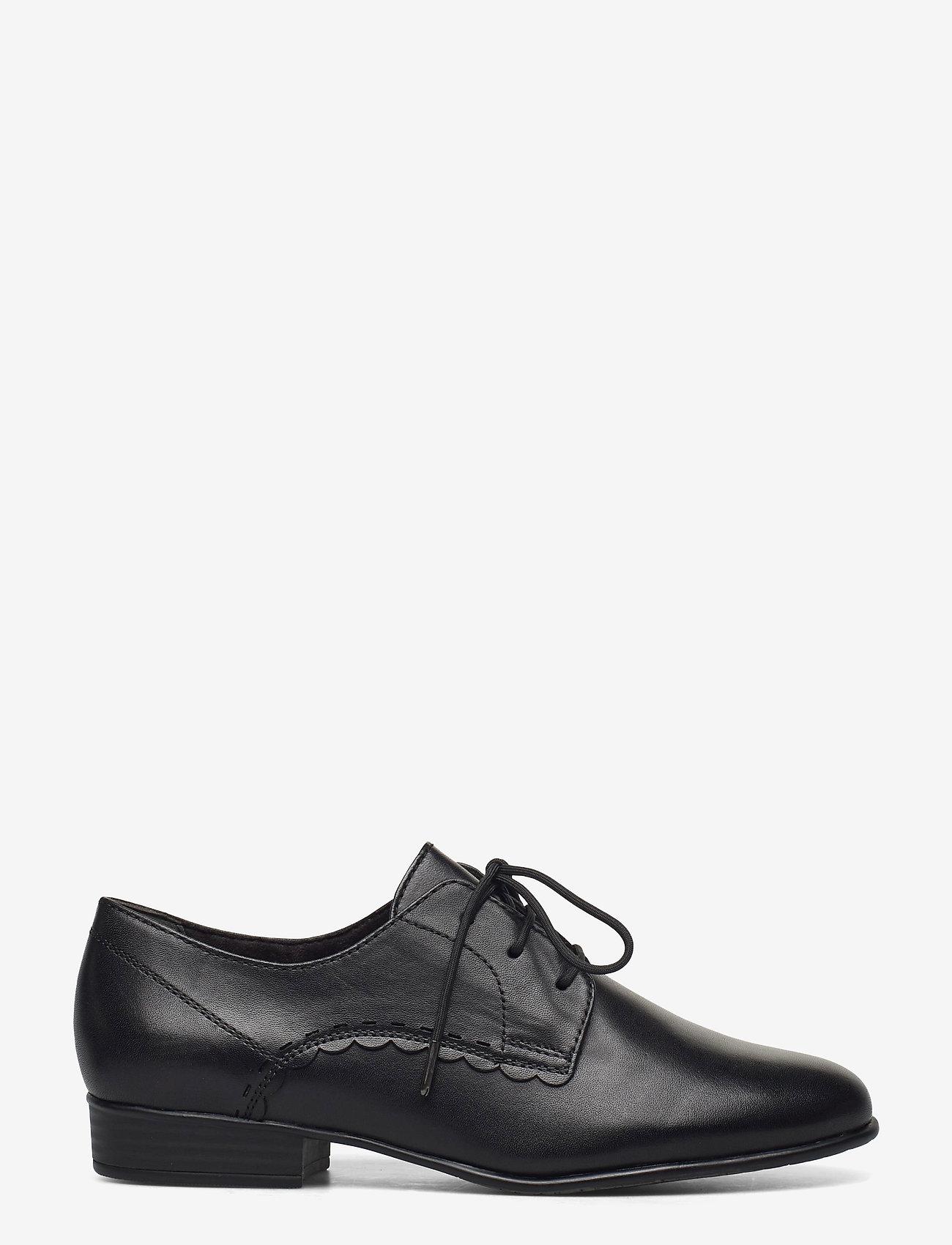 Tamaris - Woms Lace-up - snörskor - black leather - 0