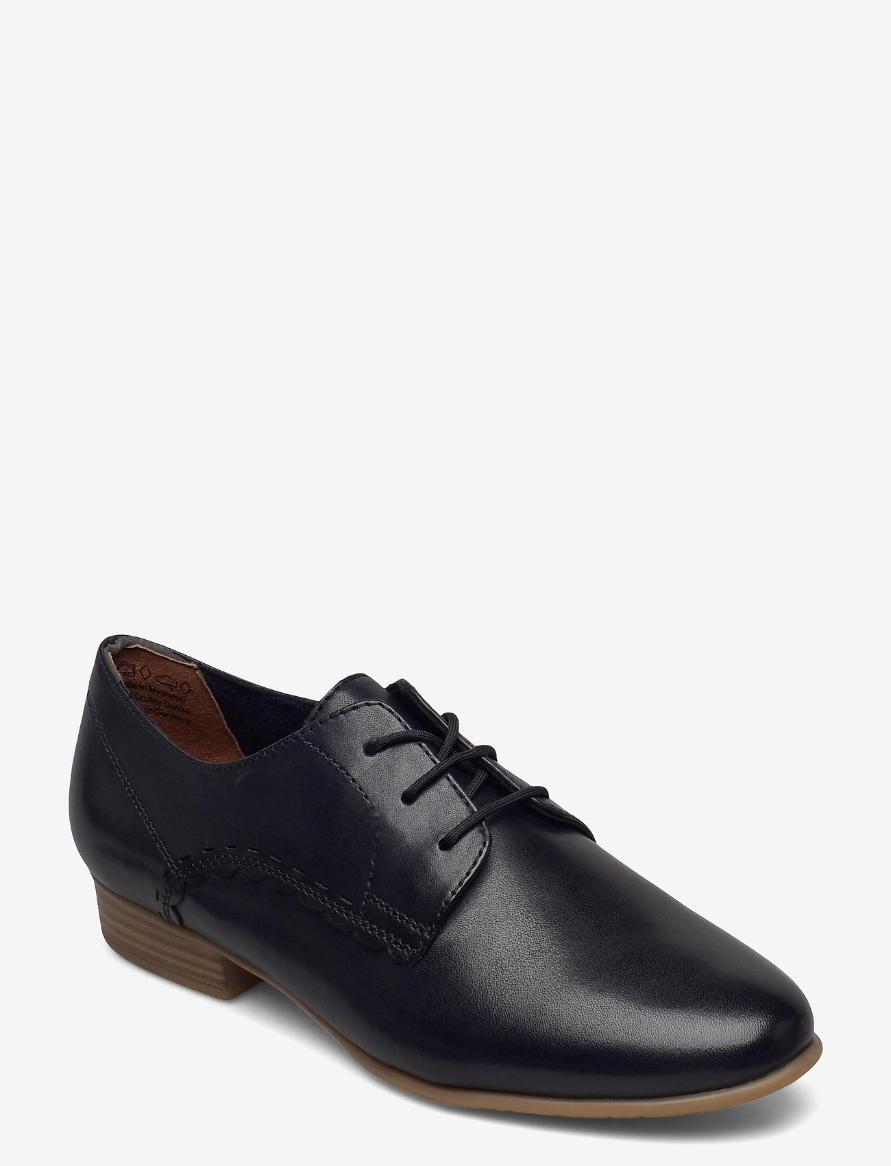 Tamaris - Woms Lace-up - snörskor - navy leather - 1