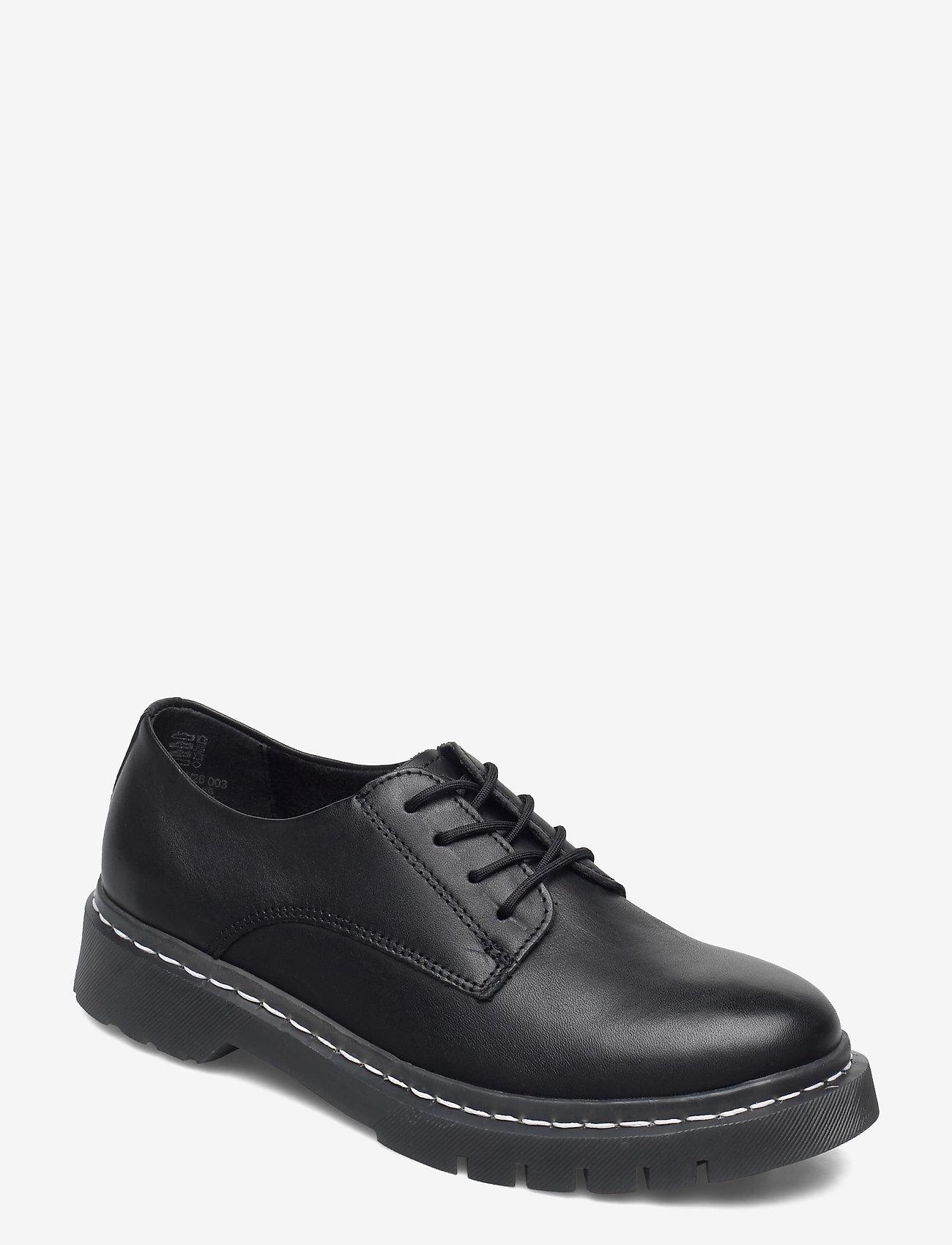 Tamaris - Woms Lace-up - schnürschuhe - black leather - 0