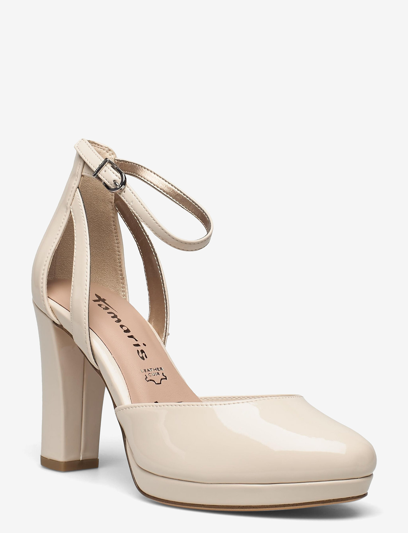 Tamaris - Woms Slip-on - klasiski augstpapēžu apavi - nude patent - 0