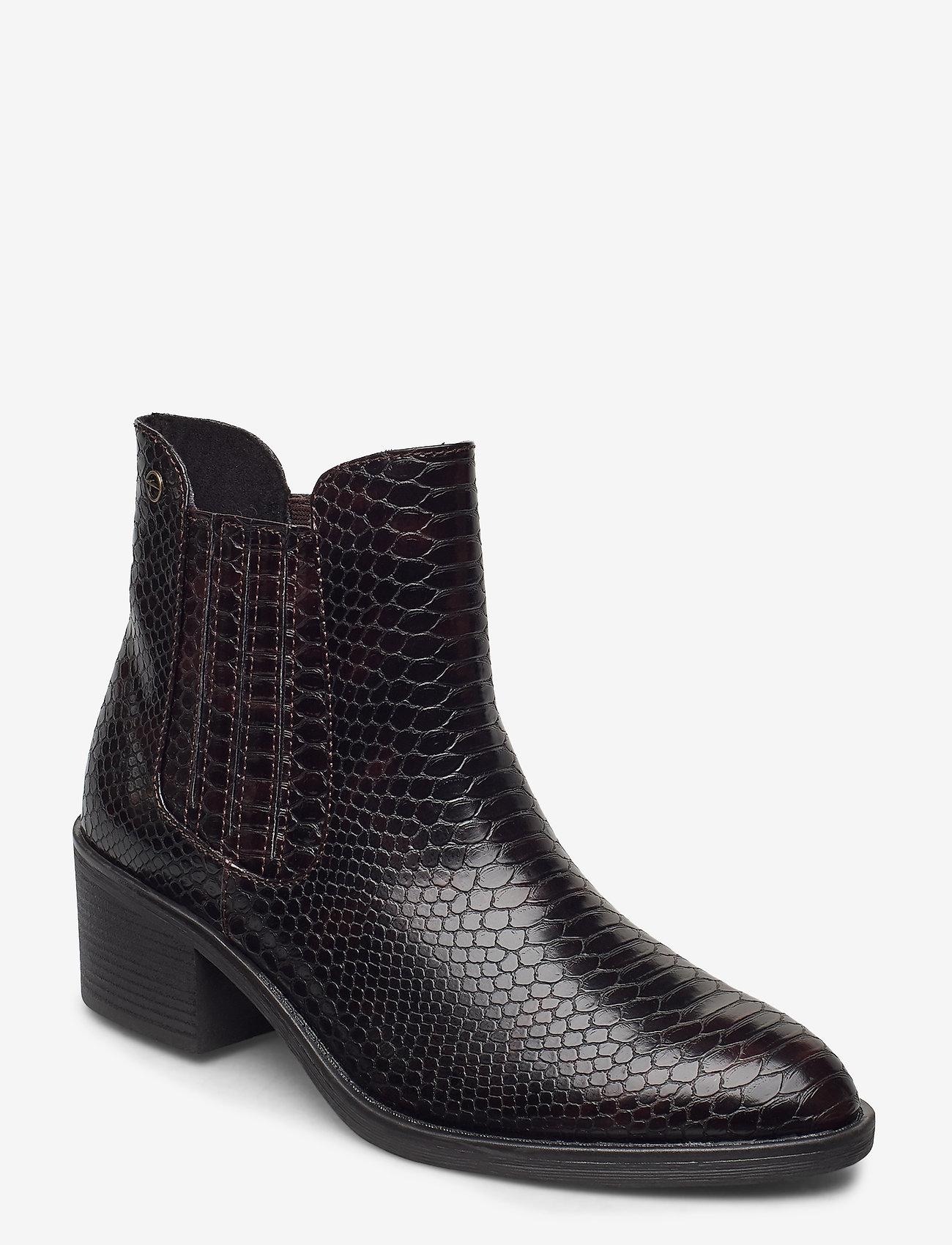 Tamaris - Woms Boots - augstpapēžu puszābaki - mahogany snake - 0