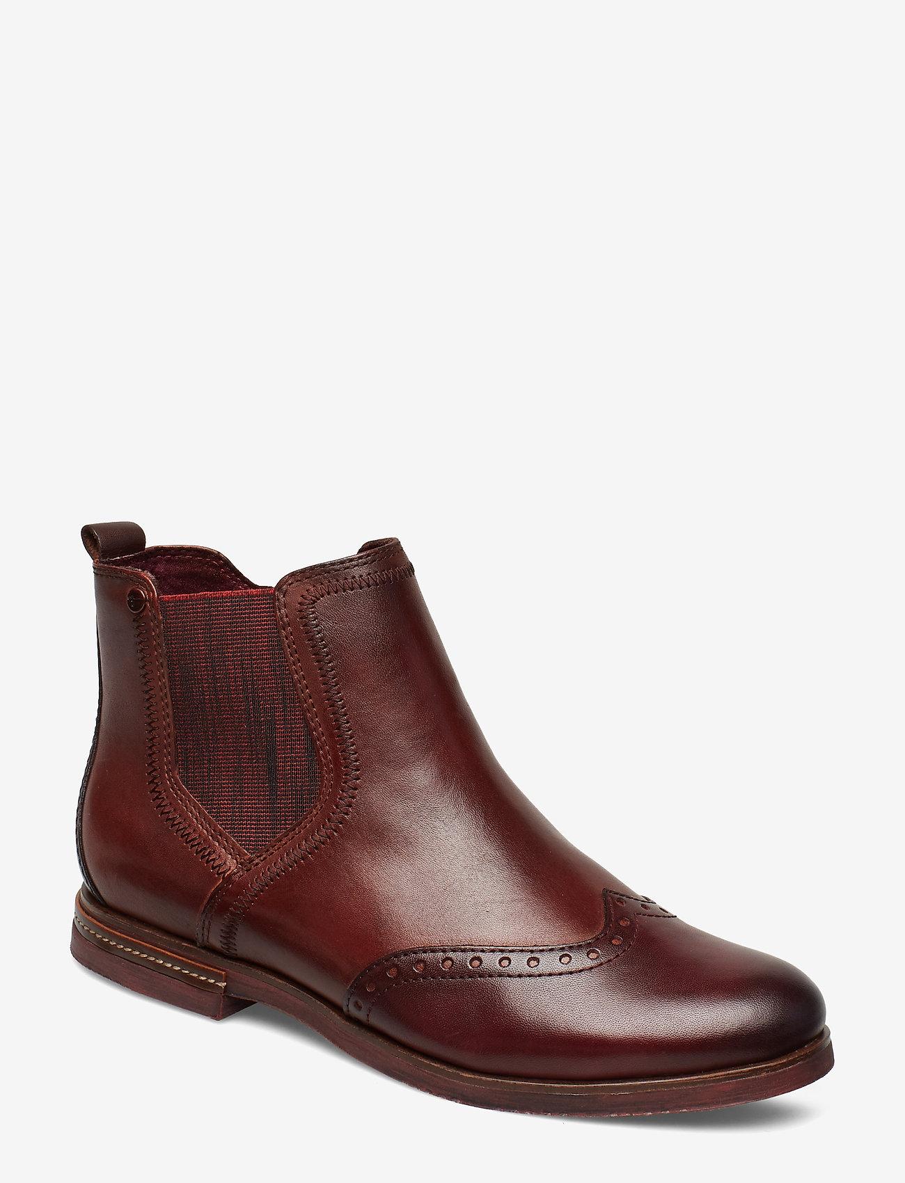 Tamaris - Woms Boots - chelsea boots - chestnut comb