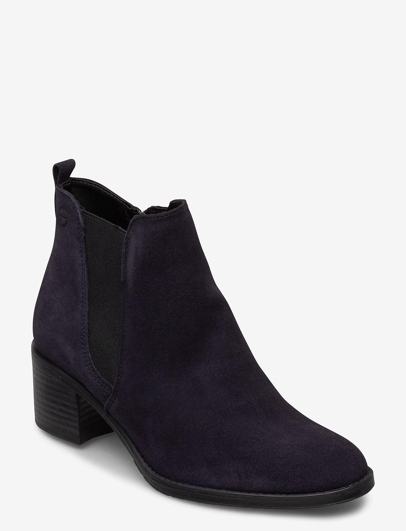 Tamaris - Woms Boots - enkellaarsjes met hak - navy suede - 0