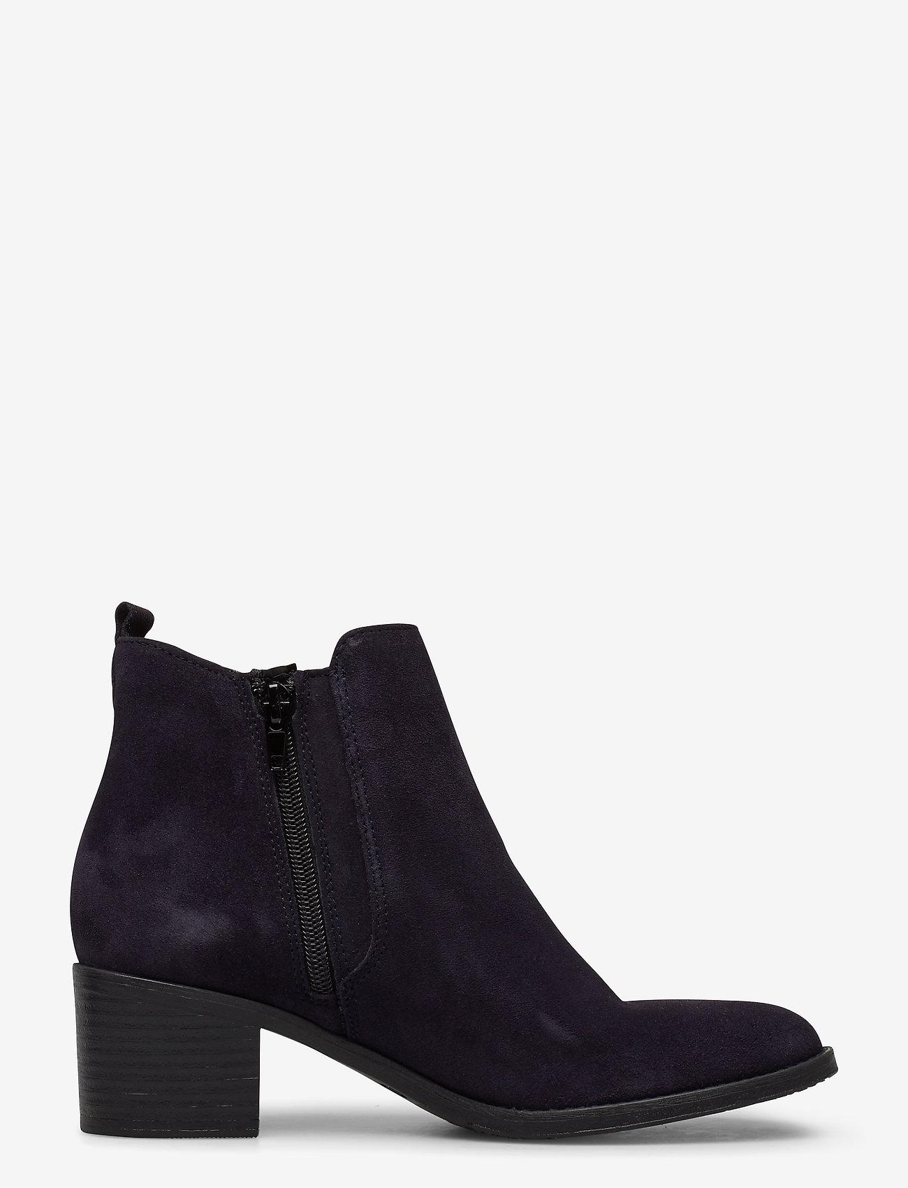 Tamaris - Woms Boots - enkellaarsjes met hak - navy suede - 1