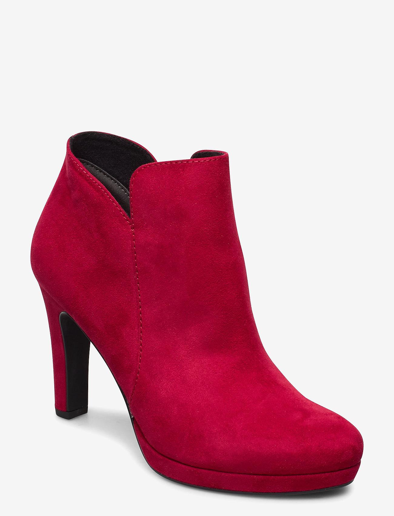 Tamaris - Woms Boots - enkellaarsjes met hak - lipstick - 0