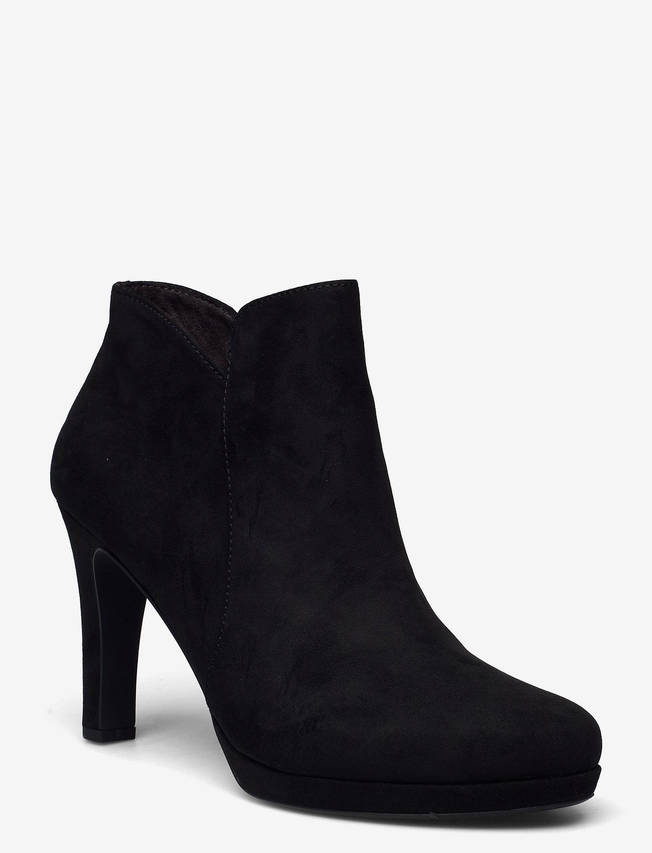 Tamaris - Woms Boots - augstpapēžu puszābaki - black - 0