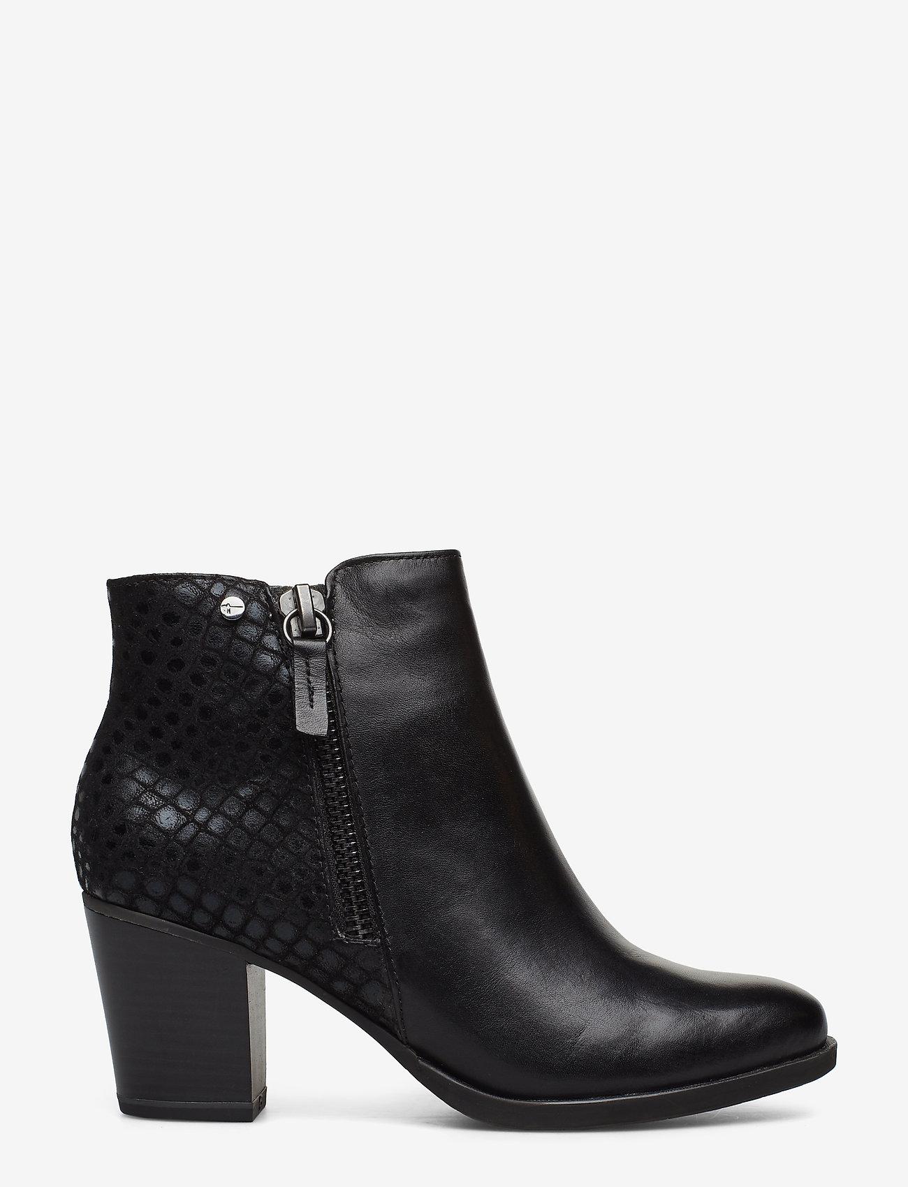 Tamaris - Boots - ankelstøvler med hæl - black - 1