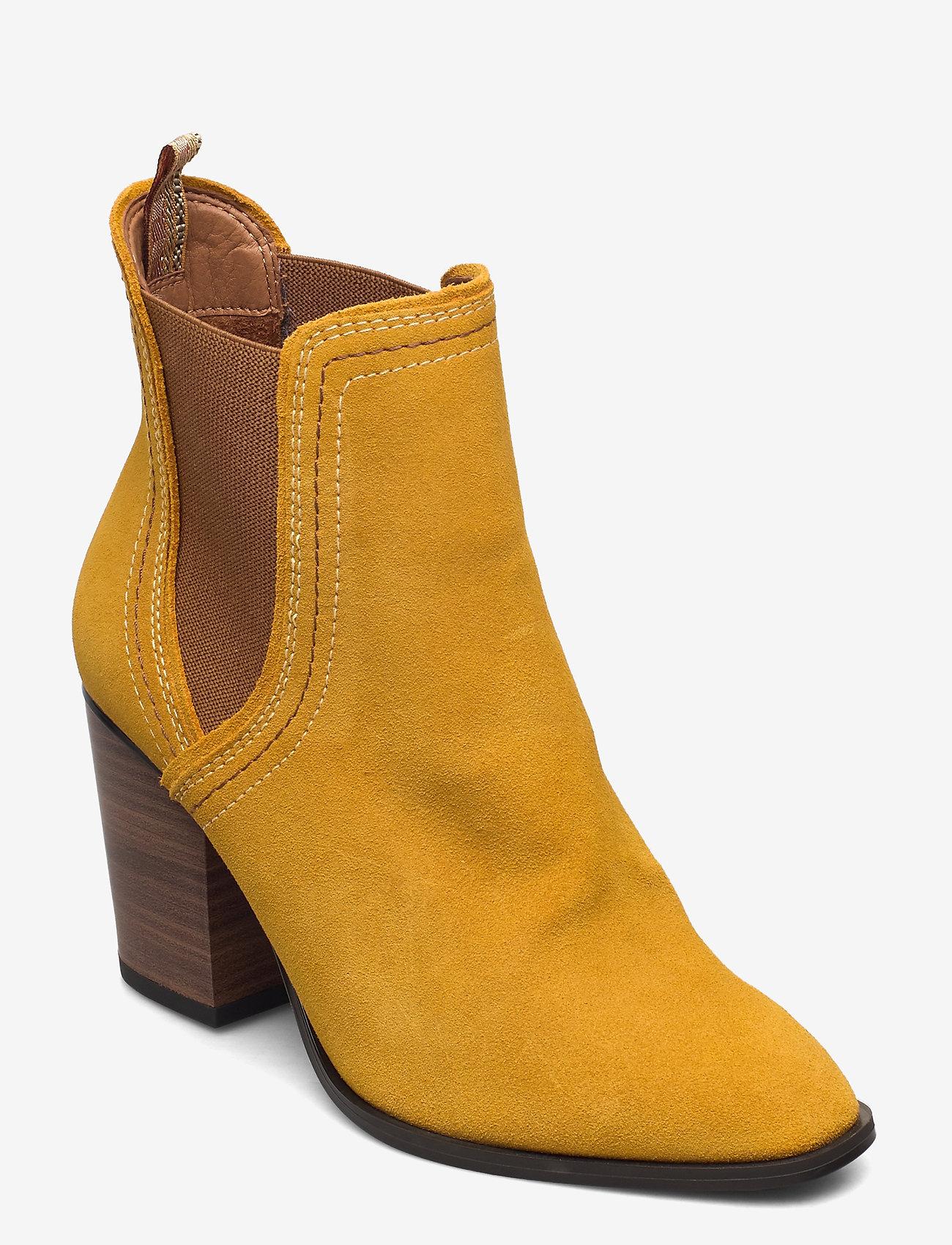 Tamaris - Woms Boots - enkellaarsjes met hak - mustard - 0