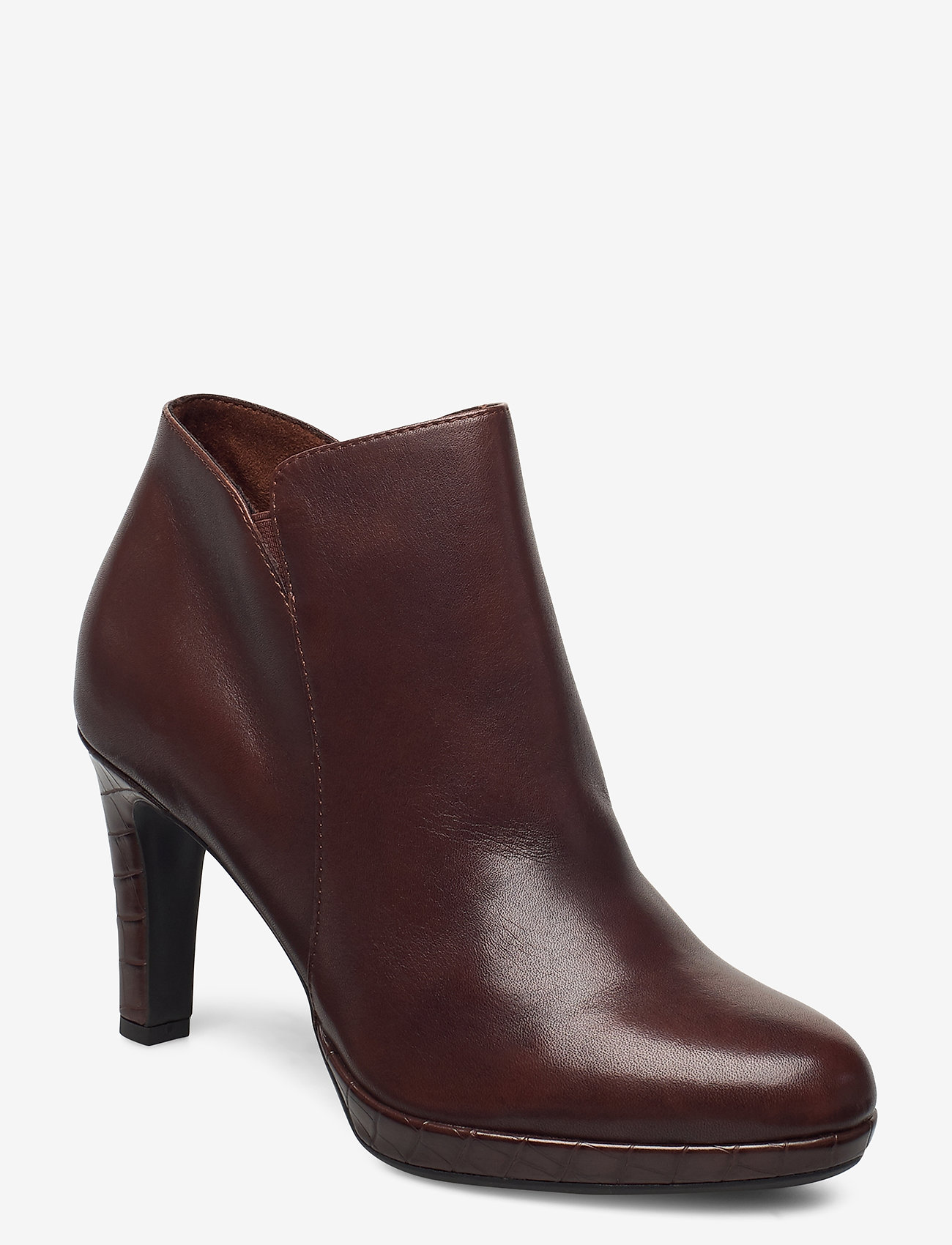 Tamaris - Woms Boots - enkellaarsjes met hak - maroon/croco - 0