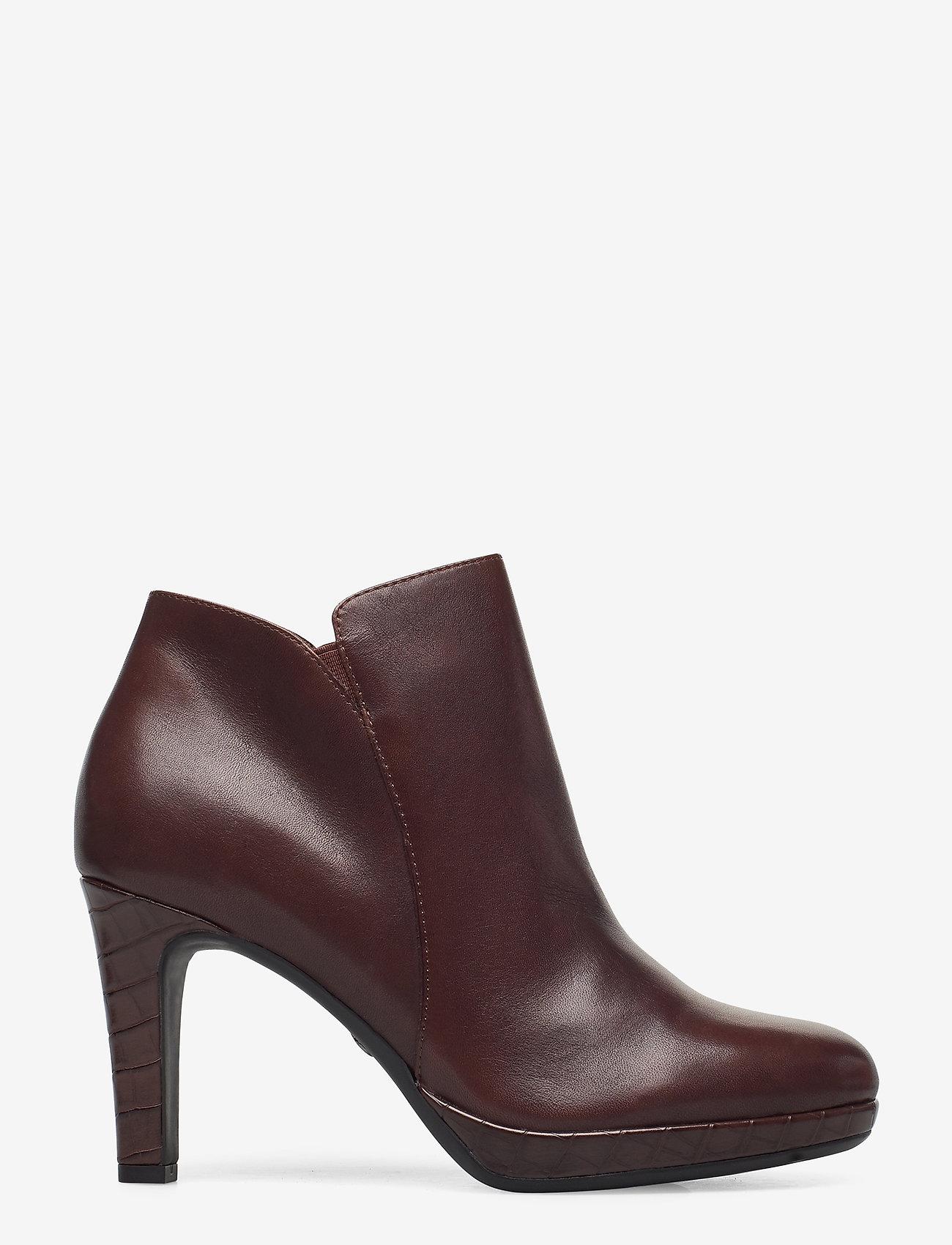 Tamaris - Woms Boots - enkellaarsjes met hak - maroon/croco - 1