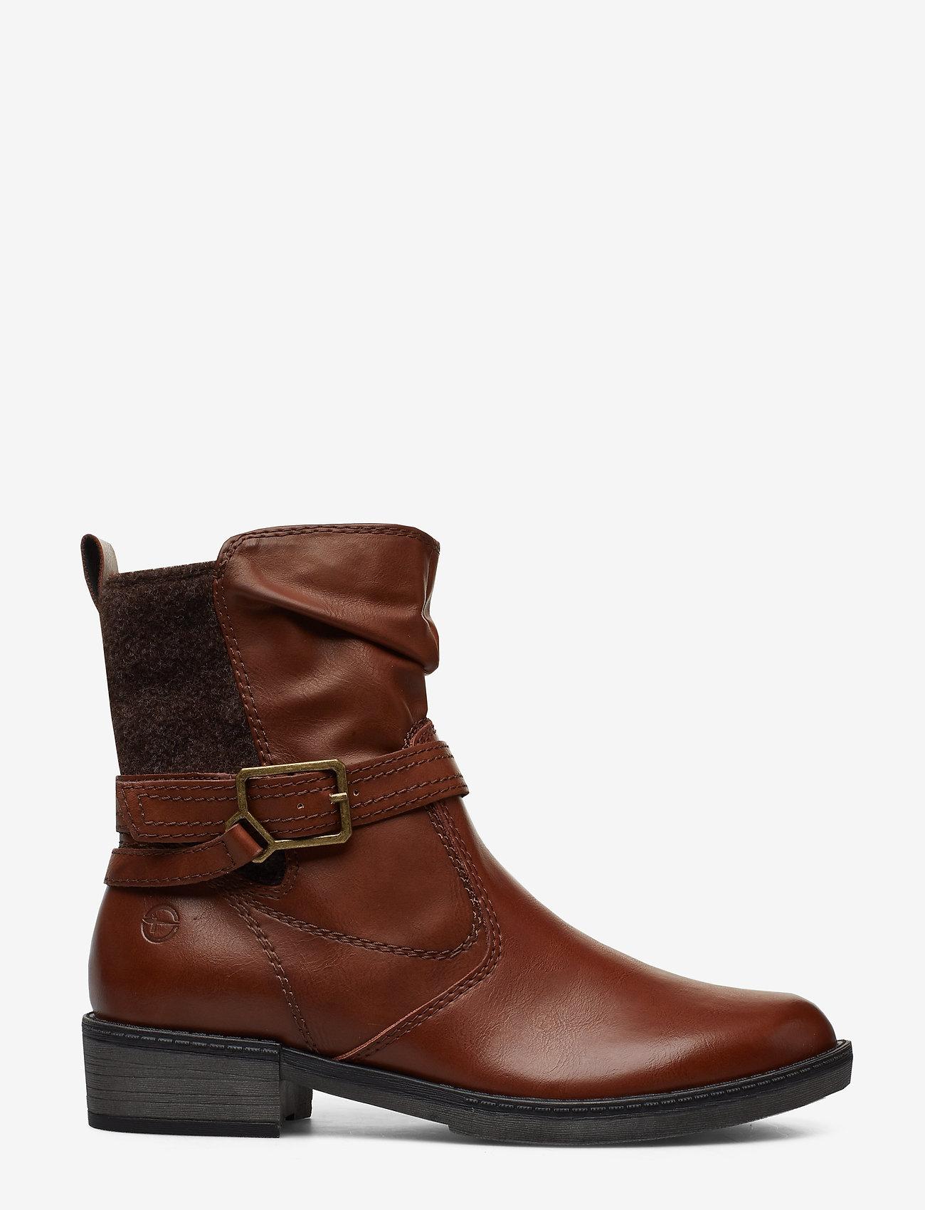 Tamaris - Boots - flate ankelstøvletter - cognac - 1