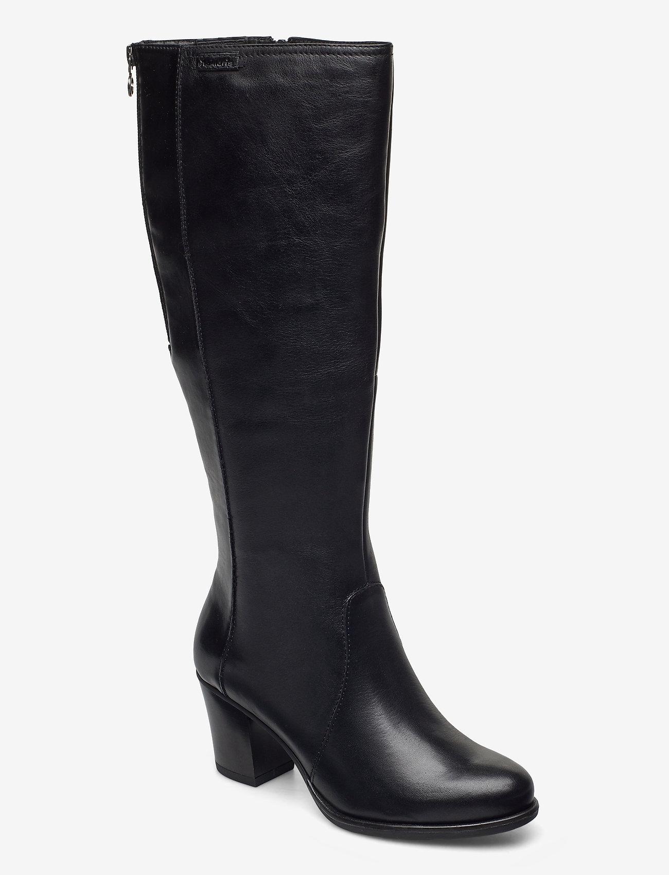 Tamaris - Woms Boots - lange laarzen - black uni - 0