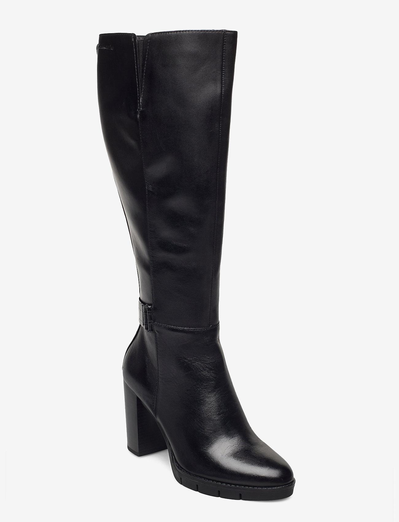 Tamaris - Woms Boots - lange laarzen - black/croco - 0