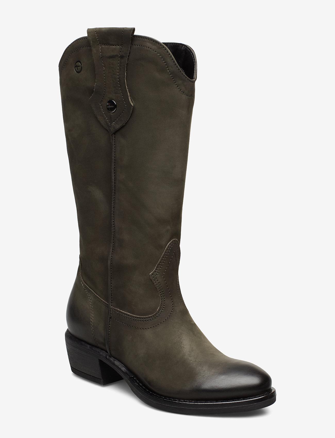 Tamaris - Woms Boots - lange laarzen - olive nubuc - 0