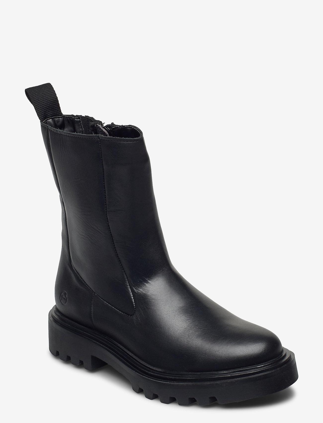Tamaris - Woms Boots - platte enkellaarsjes - black - 0
