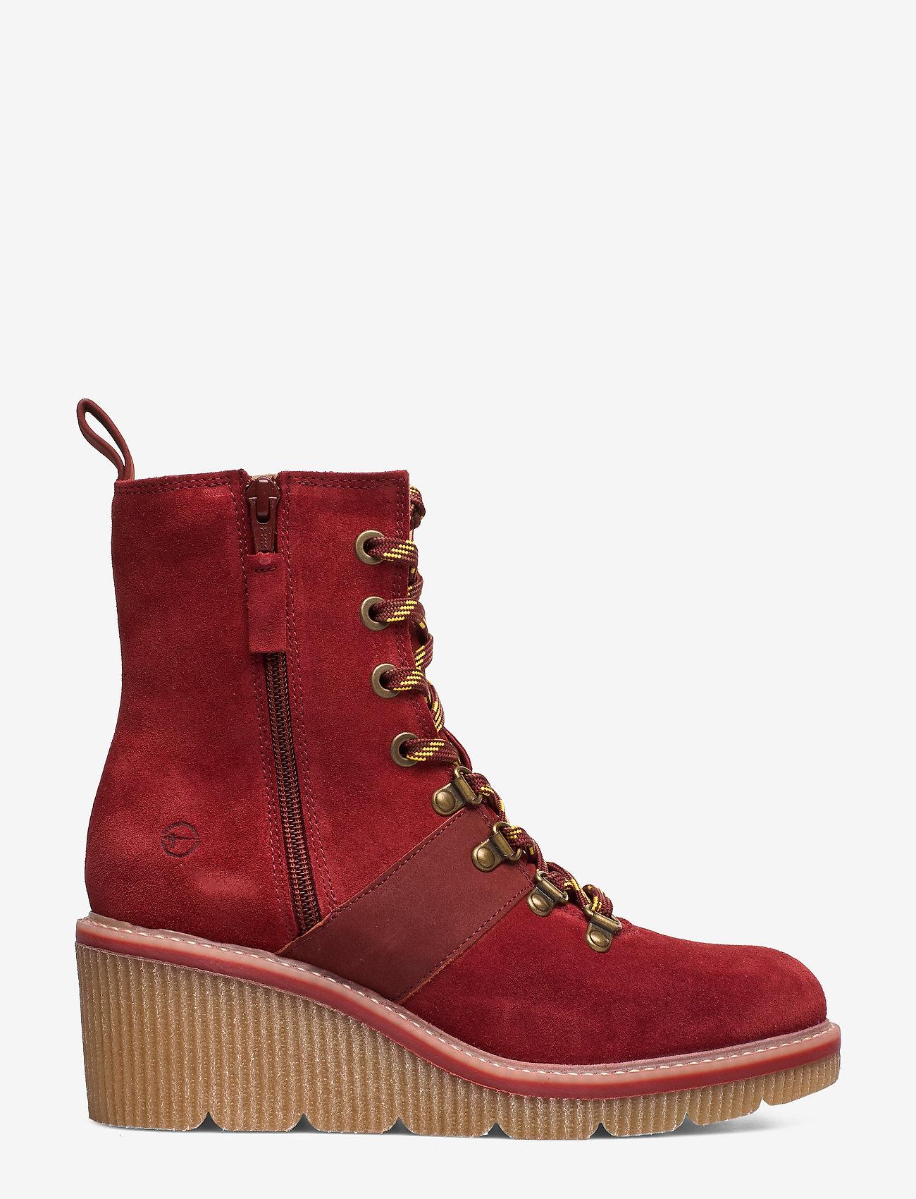 Tamaris - Boots - ankelstøvler med hæl - brick - 1