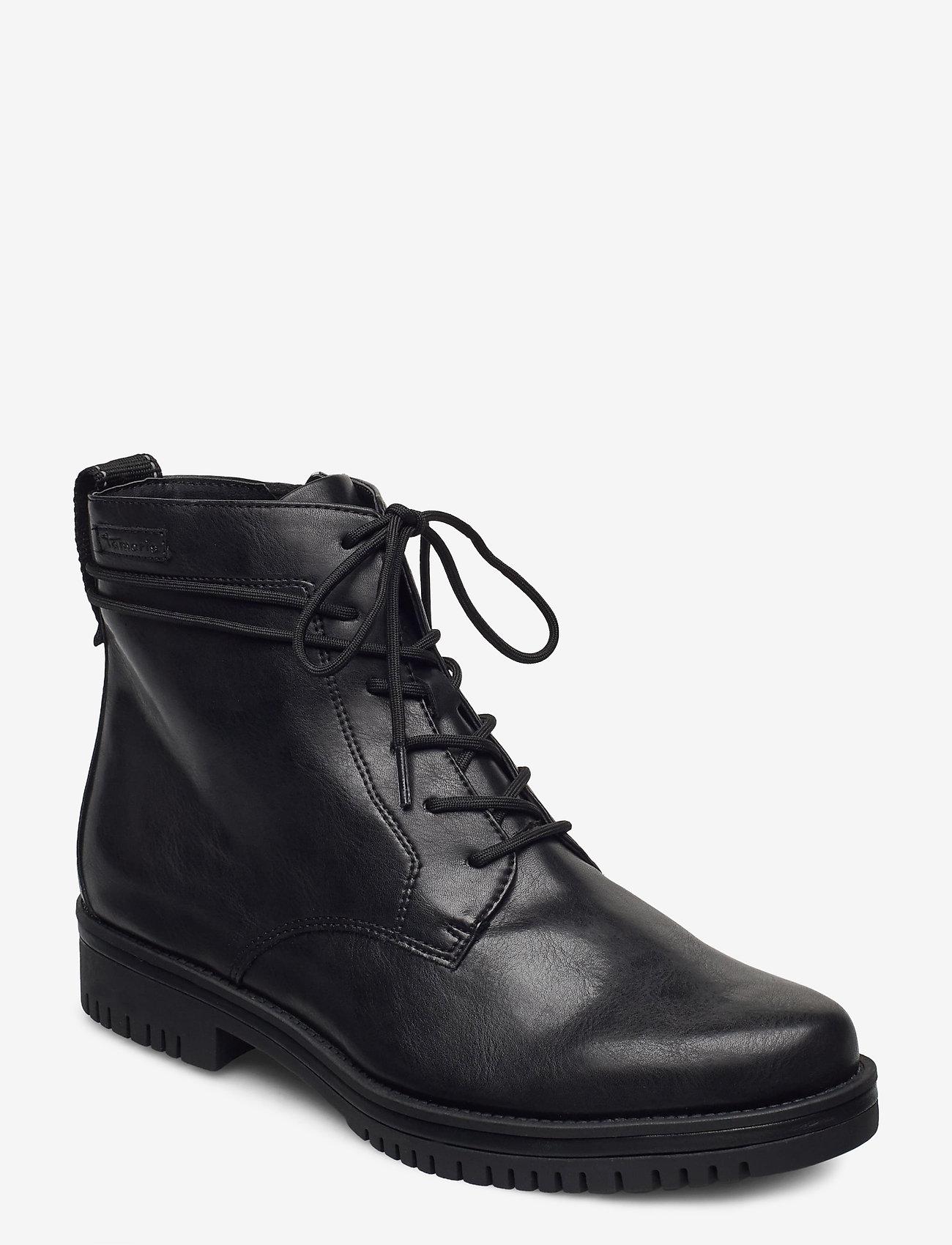 Tamaris - Woms Boots - platta ankelboots - black matt - 1