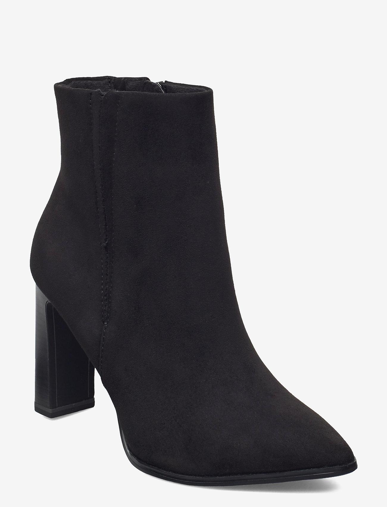 Tamaris - Woms Boots - enkellaarsjes met hak - black suede - 0