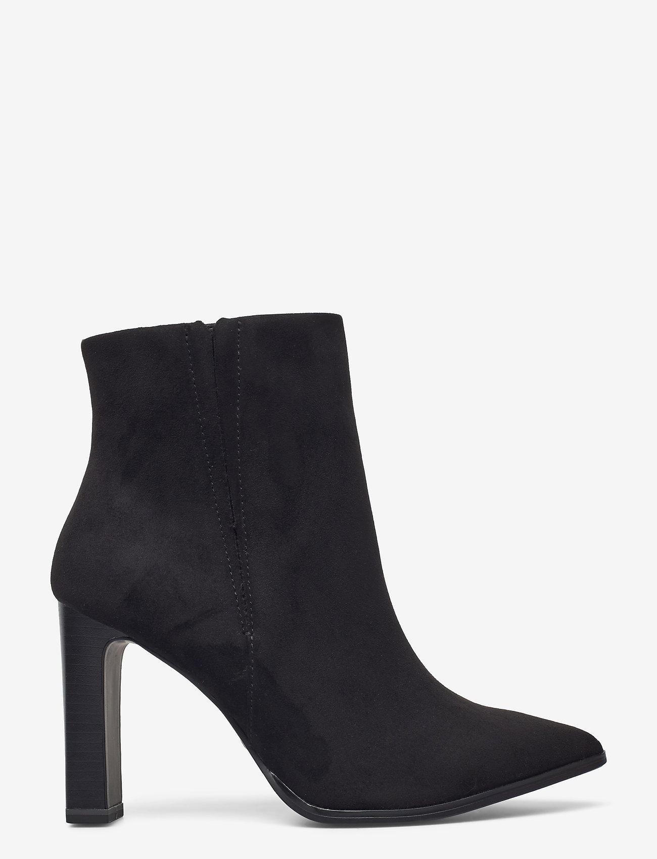Tamaris - Woms Boots - enkellaarsjes met hak - black suede - 1