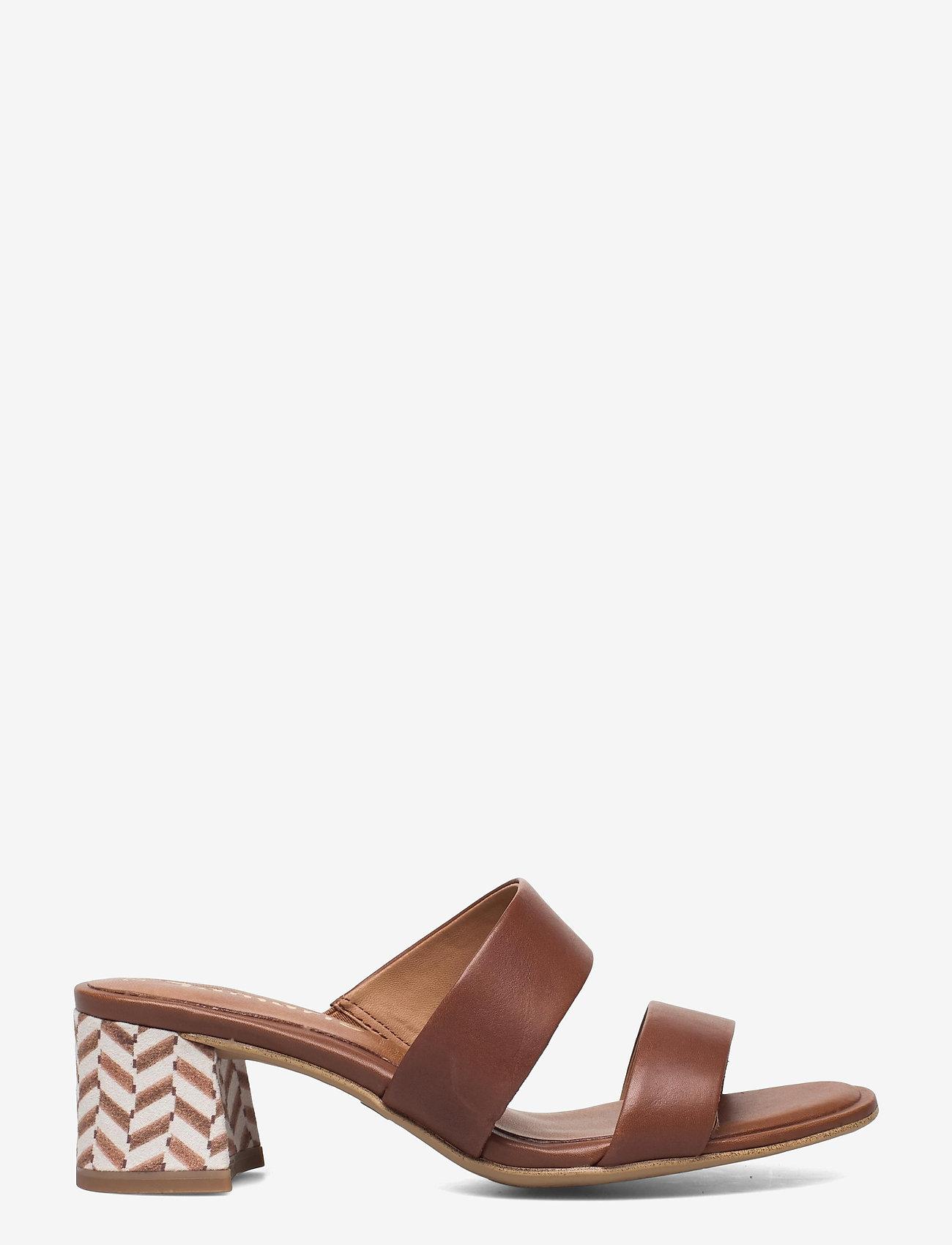 Tamaris - Woms Slides - Swida - augstpapēžu sandales - cognac - 1