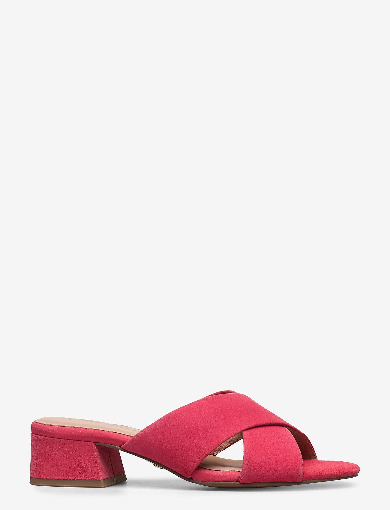 Tamaris - Woms Slides - høyhælte sandaler - coral