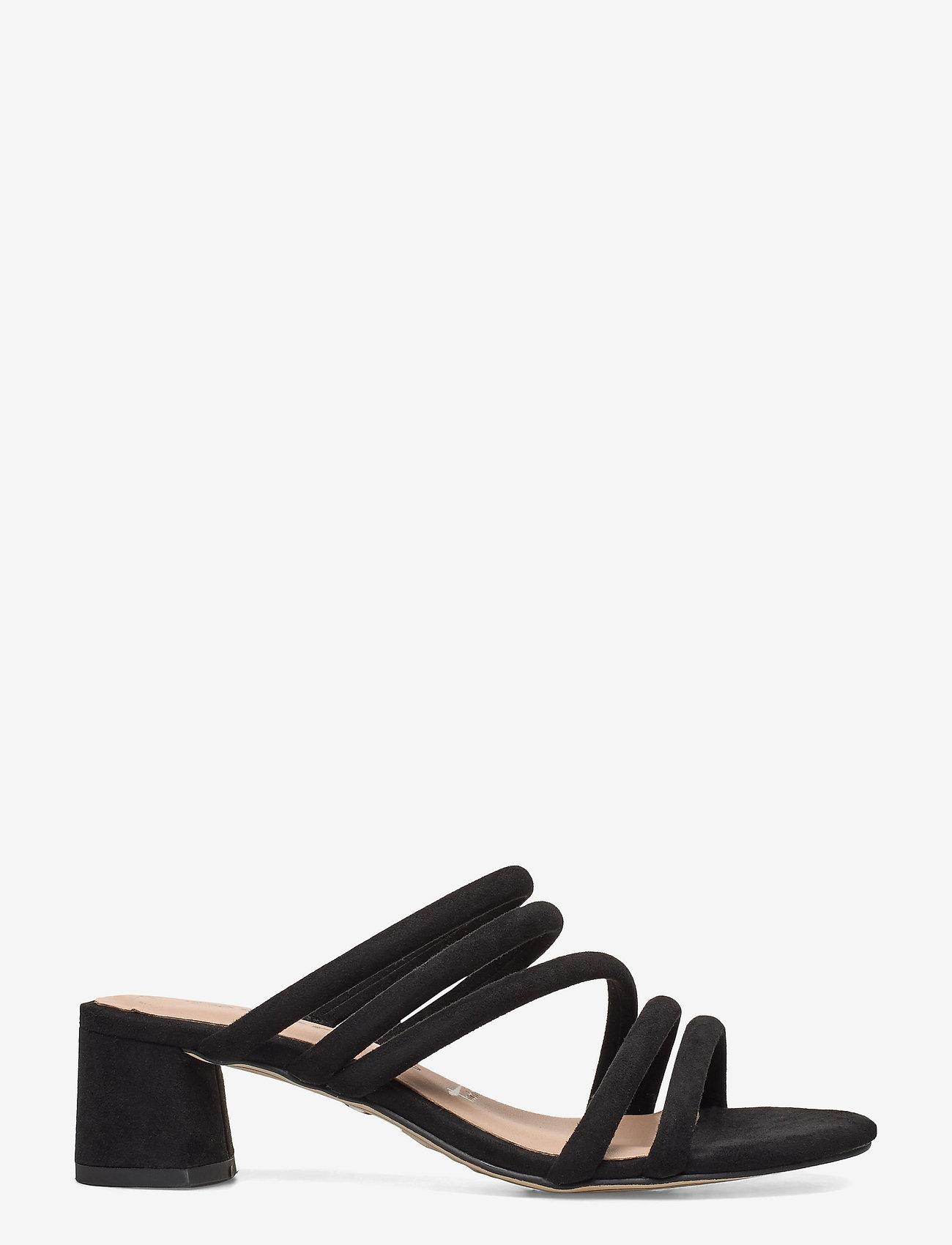 Tamaris - Woms Slides - heeled sandals - black - 1