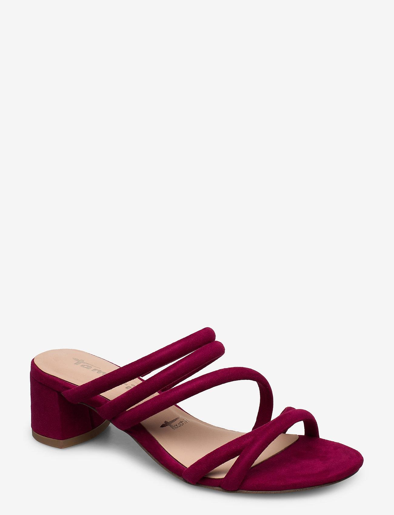 Tamaris - Woms Slides - heeled sandals - cranberry - 0