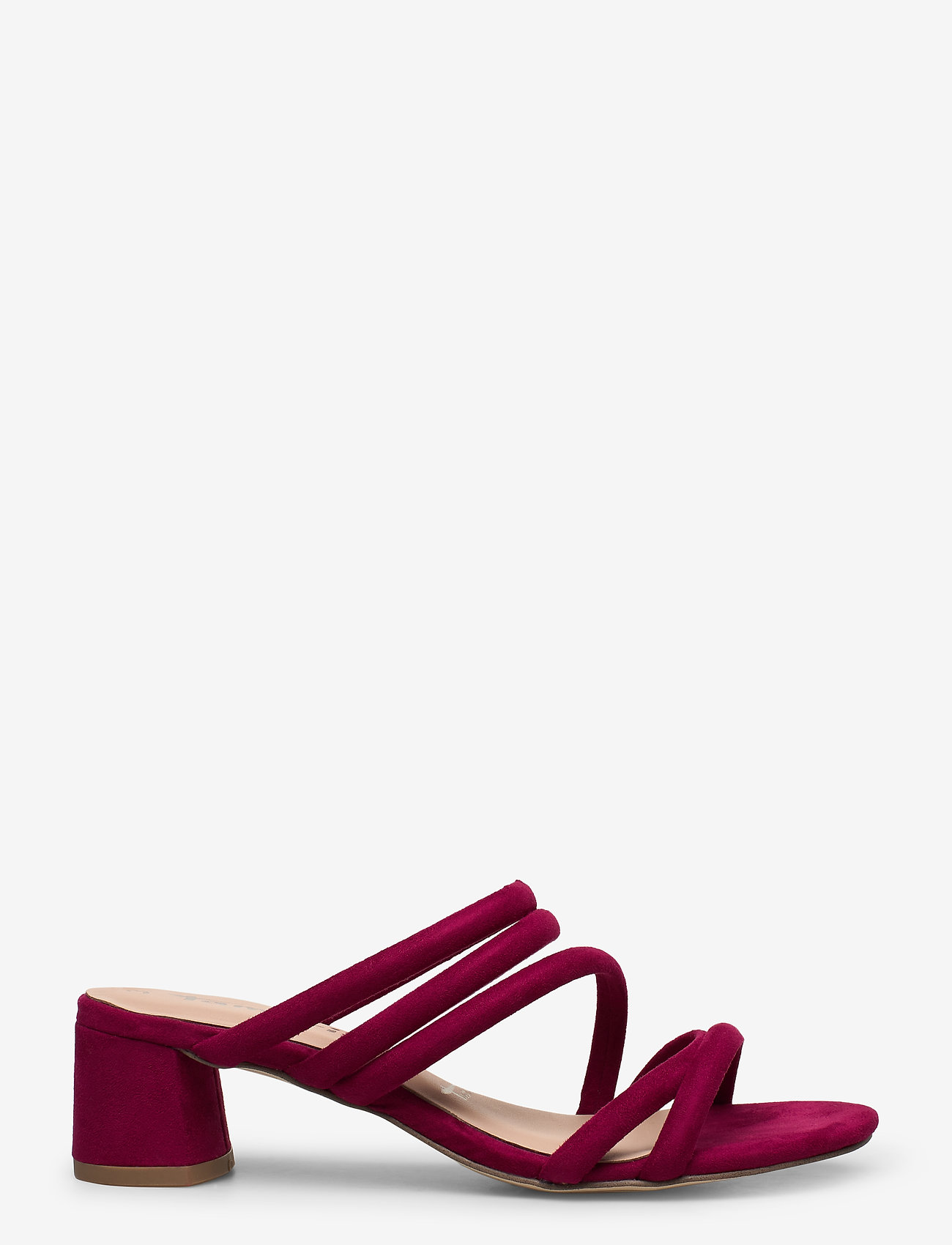 Tamaris - Woms Slides - heeled sandals - cranberry - 1