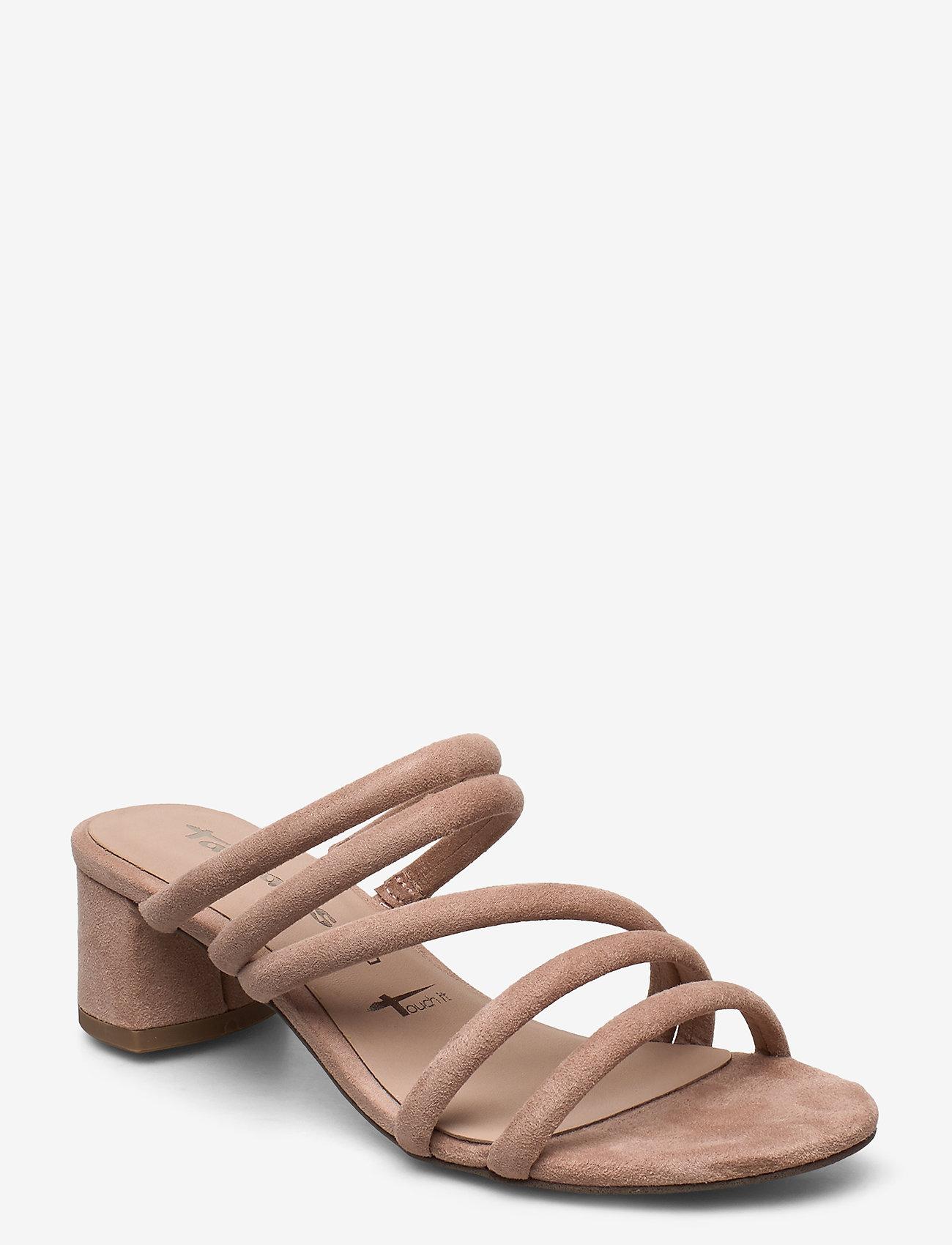 Tamaris - Woms Slides - høyhælte sandaler - old rose