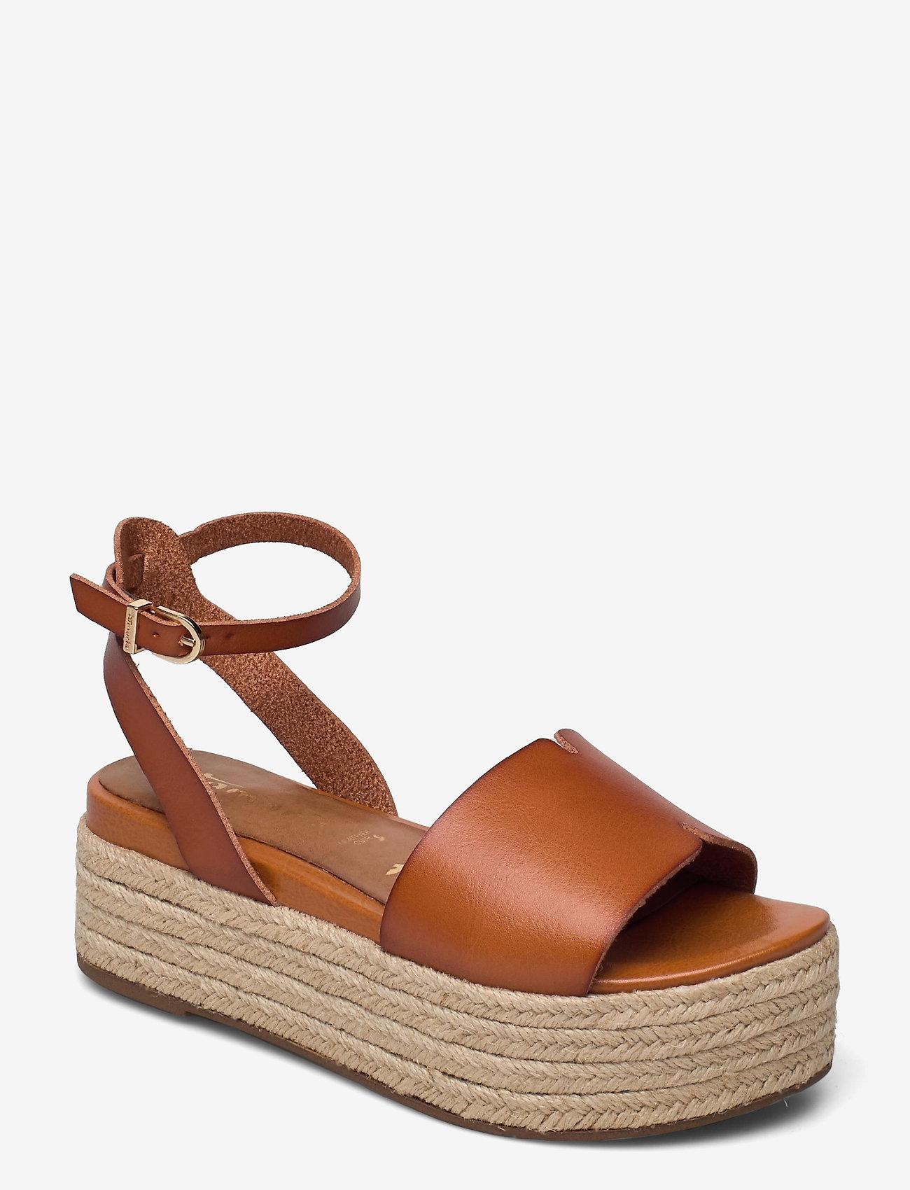 Tamaris - Woms Sandals - højhælede espadrillos - hazelnut - 1